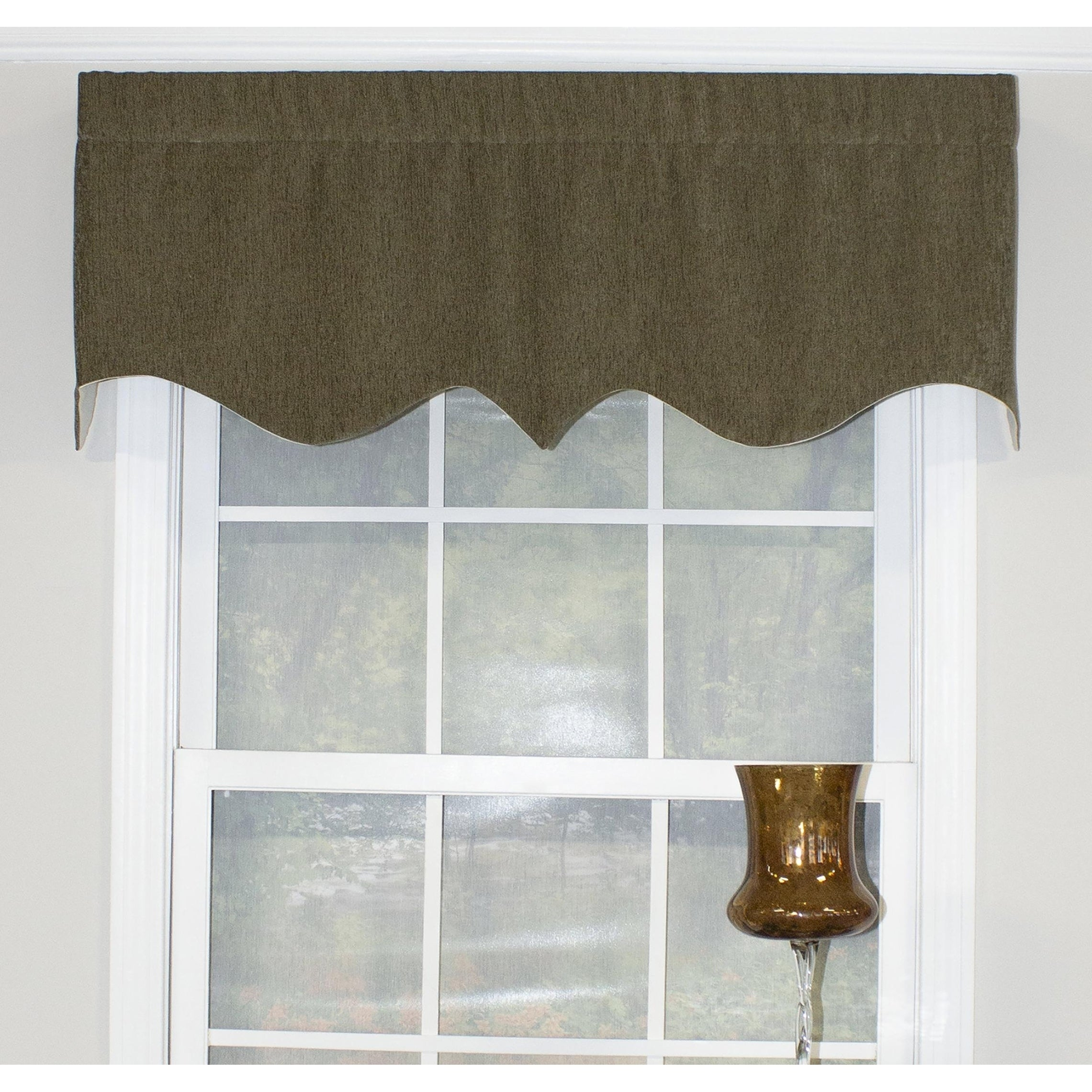 "Rlf Home Elemental Regal 50"" Window Valance Intended For Flinders Forge 30 Inch Tiers In Dove Grey (Gallery 10 of 20)"