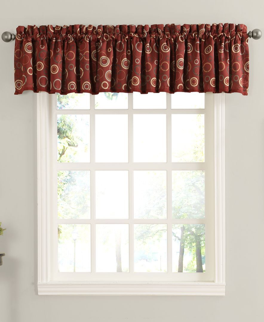 Rowan All Over Circle Pattern Room Darkening 54 X 18 Valance In Circle Curtain Valances (View 14 of 20)