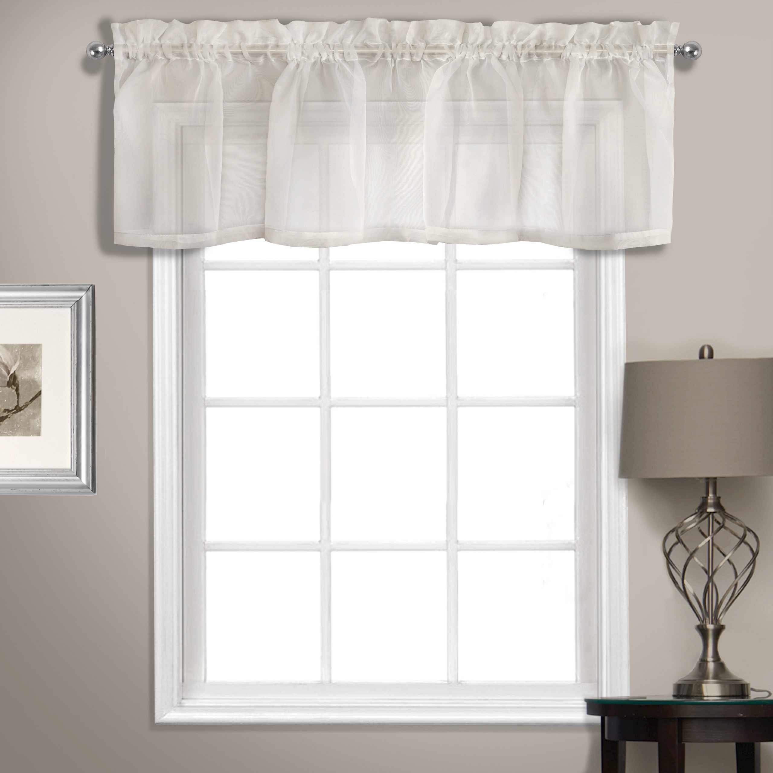 "Rutherford Sheer Voile Straight Topper 56"" Window Valance Inside Luxury Light Filtering Straight Curtain Valances (Photo 10 of 20)"