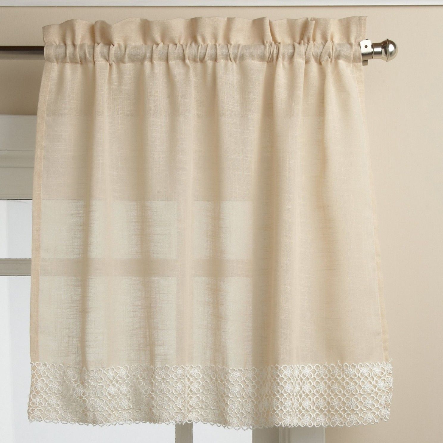 Salem Kitchen Tier Curtain | Products | Curtains, Kitchen For Country Style Curtain Parts With White Daisy Lace Accent (View 18 of 20)