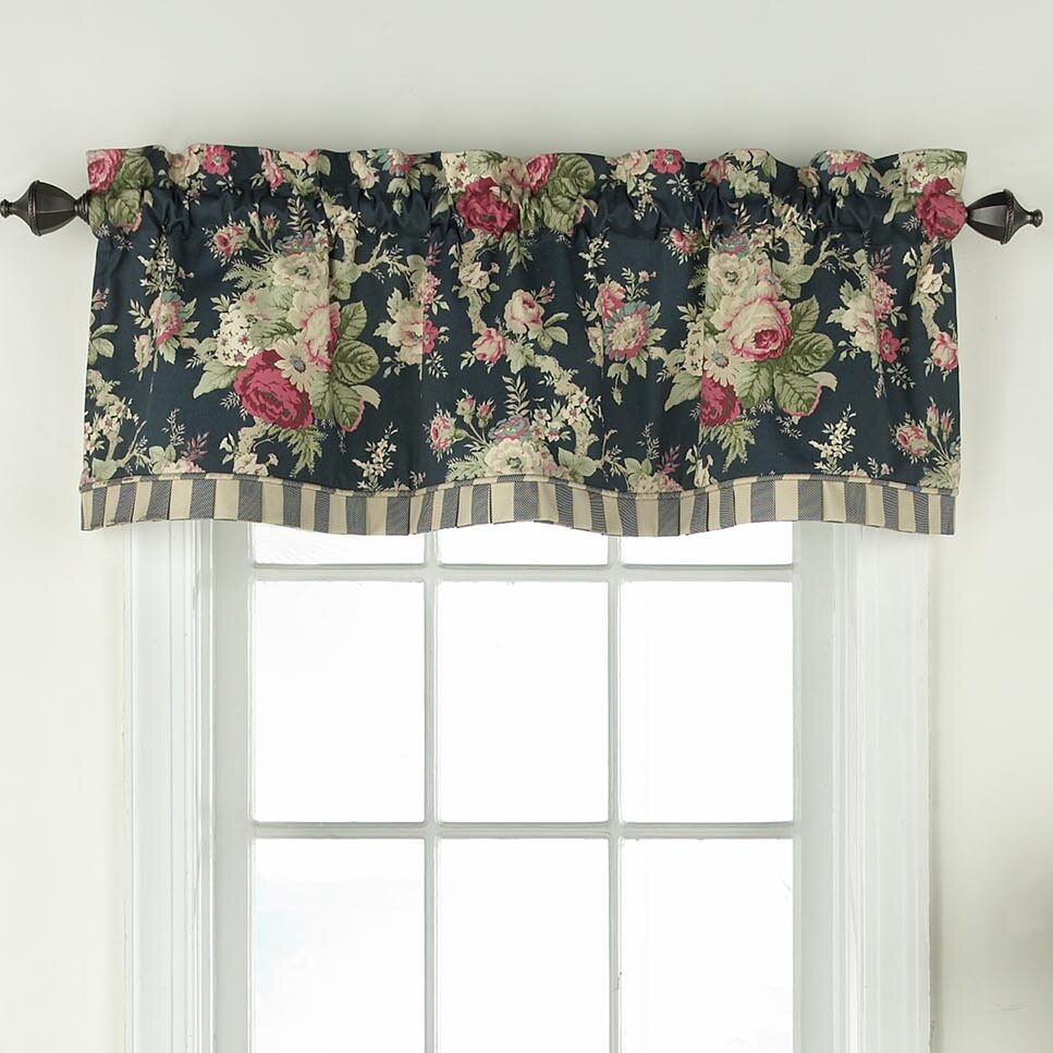 "Sanctuary Rose 52"" Window Valance Within Waverly Kensington Bloom Window Tier Pairs (View 13 of 20)"