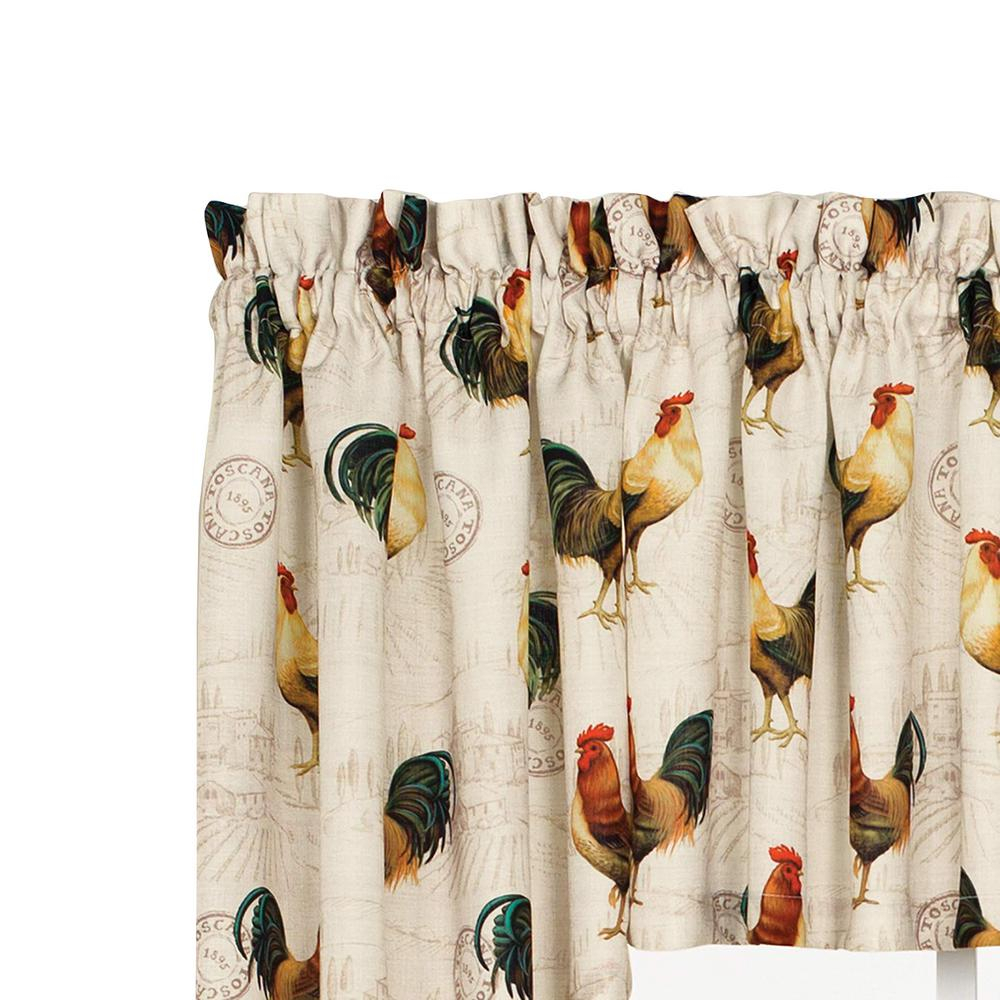 Saturday Knight Tuscan Morning 24 In. L Polyester Tier Pair In Multi for Dexter 24 Inch Tier Pairs In Green (Image 15 of 20)