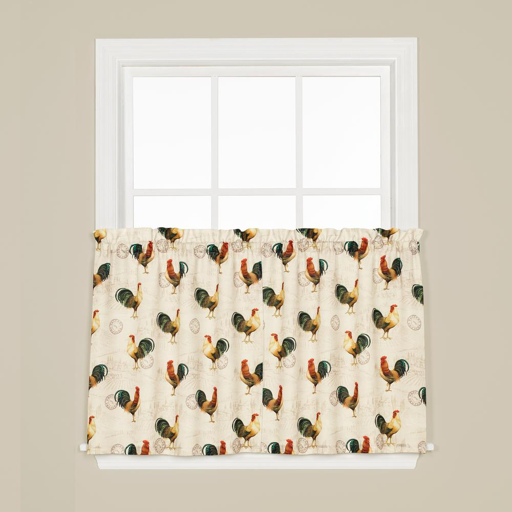 Saturday Knight Tuscan Morning 24 In. L Polyester Tier Pair In Multi for Dexter 24 Inch Tier Pairs In Green (Image 14 of 20)