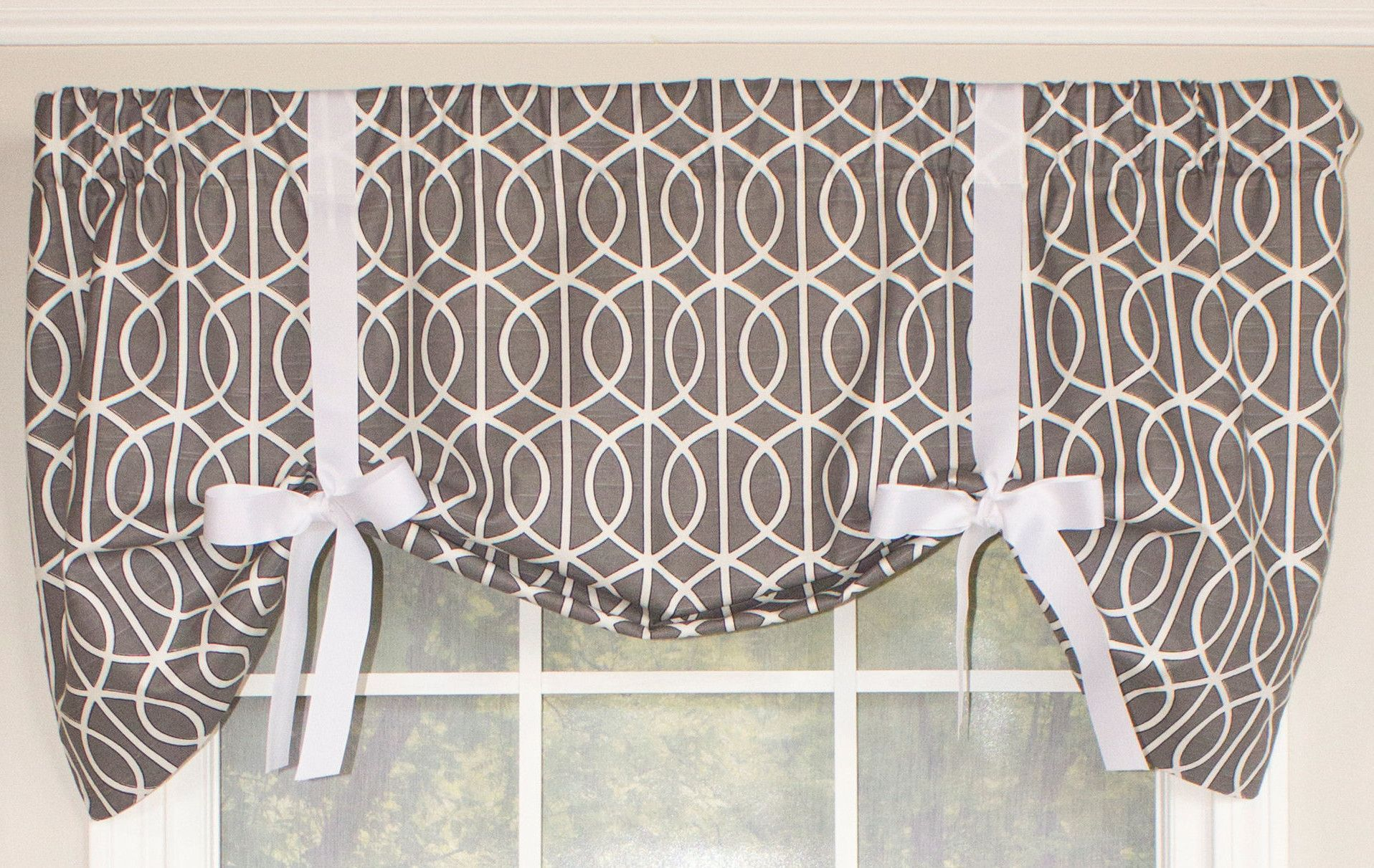 "Sequence Tie Up 50"" Window Valance In 2019 