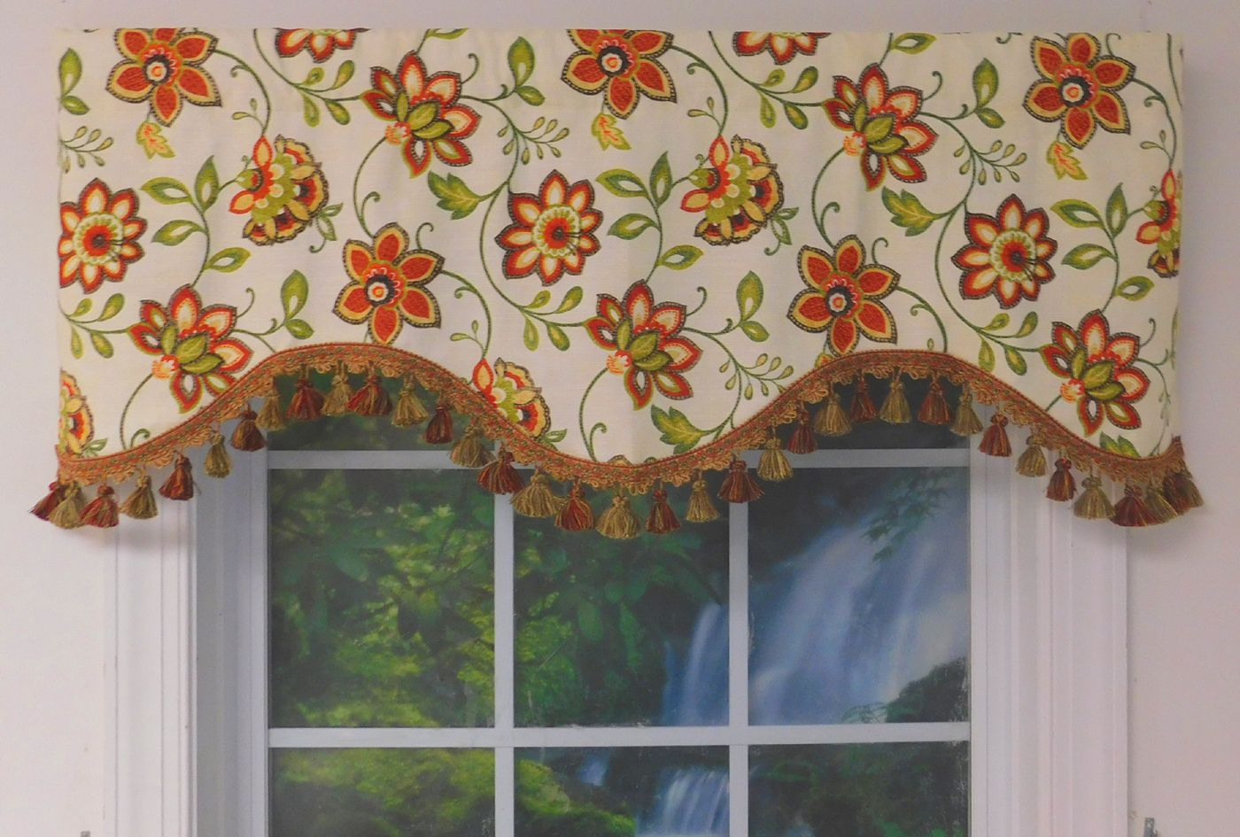 Shaped Valances: Solid, Patterned, Cornice, Box Pleat For Grace Cinnabar 5 Piece Curtain Tier And Swag Sets (View 18 of 20)