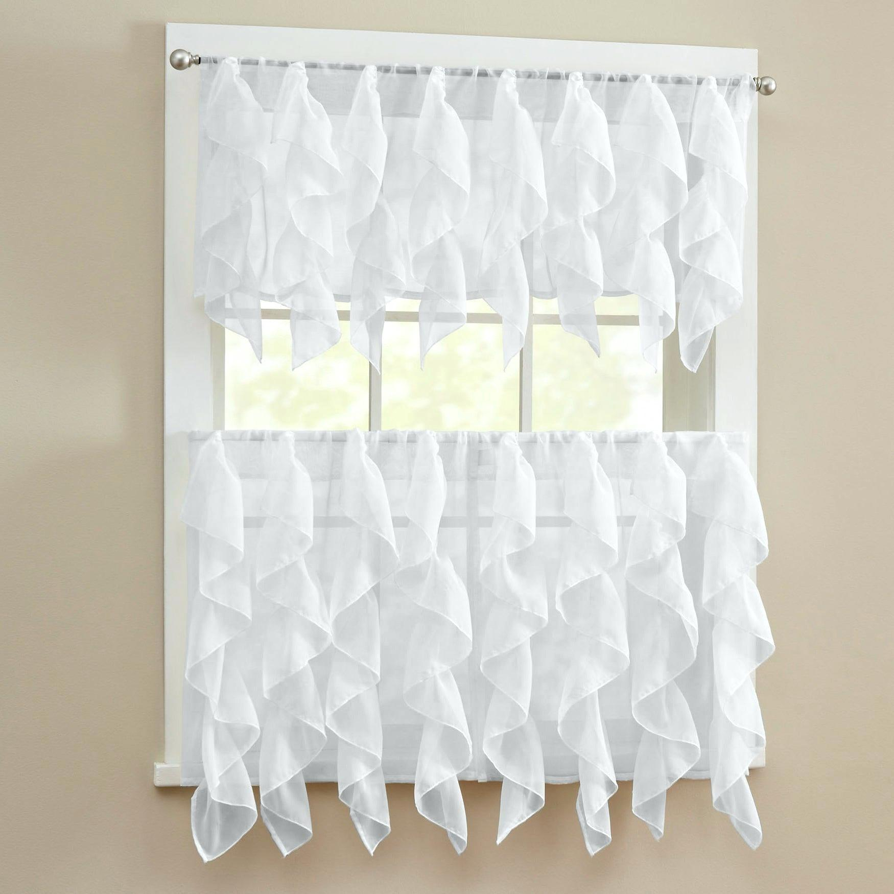 Sheer Tier Curtains – Conor425 Inside Ivory Micro Striped Semi Sheer Window Curtain Pieces (View 19 of 20)
