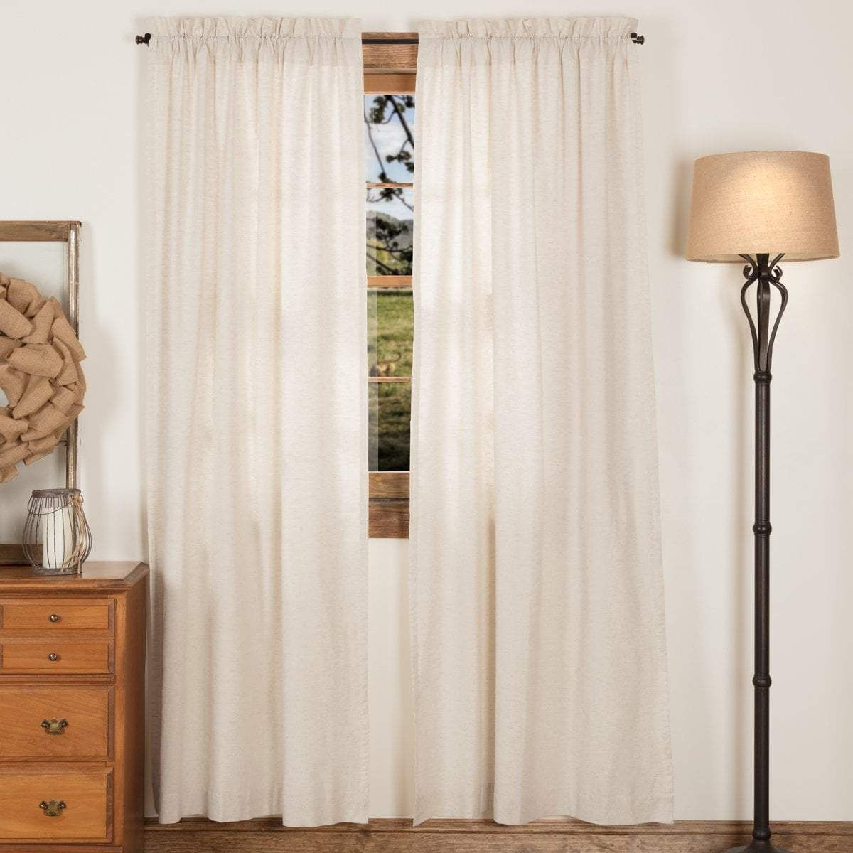 Simple Life Flax Panels | Rod Pocket Curtains, Panel Inside Simple Life Flax Tier Pairs (View 17 of 20)