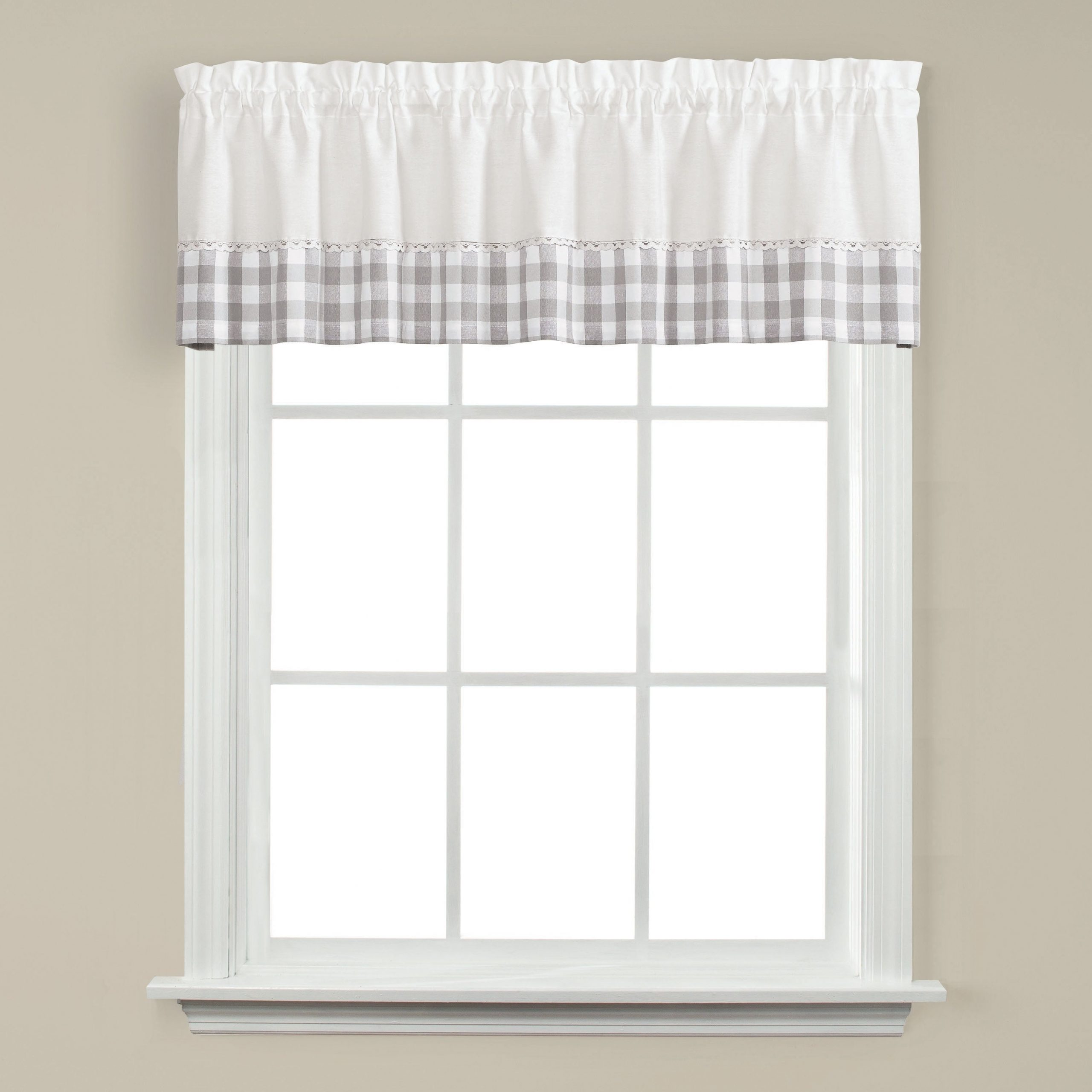 Skl Home Cumberland 13 Inch Valance In Dove Gray Inside Cumberland Tier Pairs In Dove Gray (View 11 of 20)