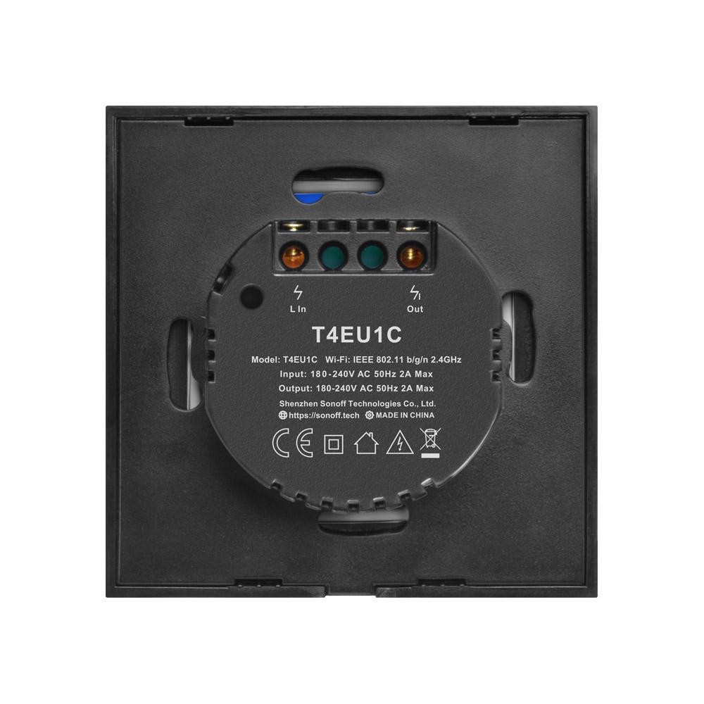 Sonoff T4eu1c Wifi Wand Berührungsschalter 1 Fach Eu Keine Neutralen Kabel Erforderlich Schalter Smart Single Wire Wandschalter Funktioniert Mit Alexa Throughout Touch Of Spring 24 Inch Tier Pairs (View 13 of 20)