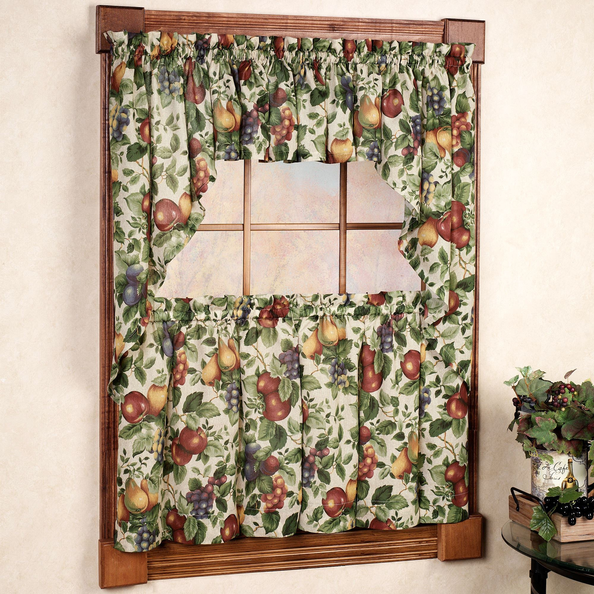 Sonoma Fruit Tier Window Treatments Intended For Apple Orchard Printed Kitchen Tier Sets (View 5 of 20)