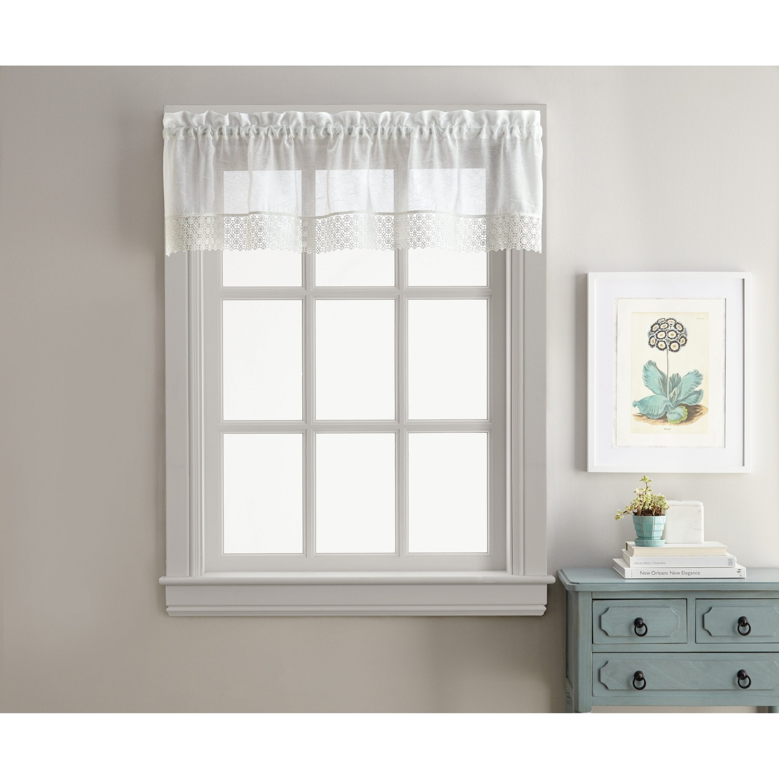 Sweet Adele White Tailored Valance And Tier Pair Curtain Collection Within White Tone On Tone Raised Microcheck Semisheer Window Curtain Pieces (View 9 of 20)