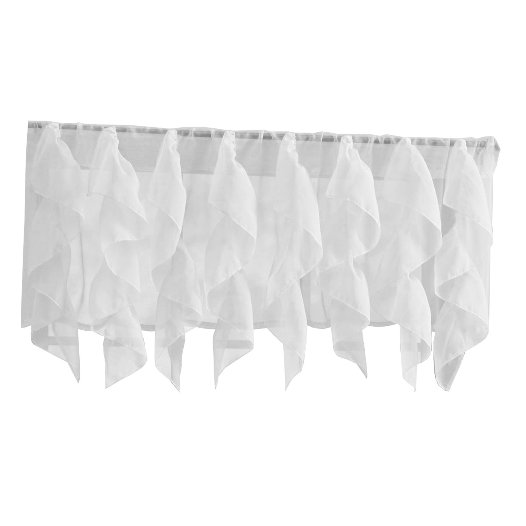 Sweet Home Collection Mint Vertical Ruffled Waterfall Valance And Curtain  Tiers regarding Maize Vertical Ruffled Waterfall Valance and Curtain Tiers (Image 17 of 20)