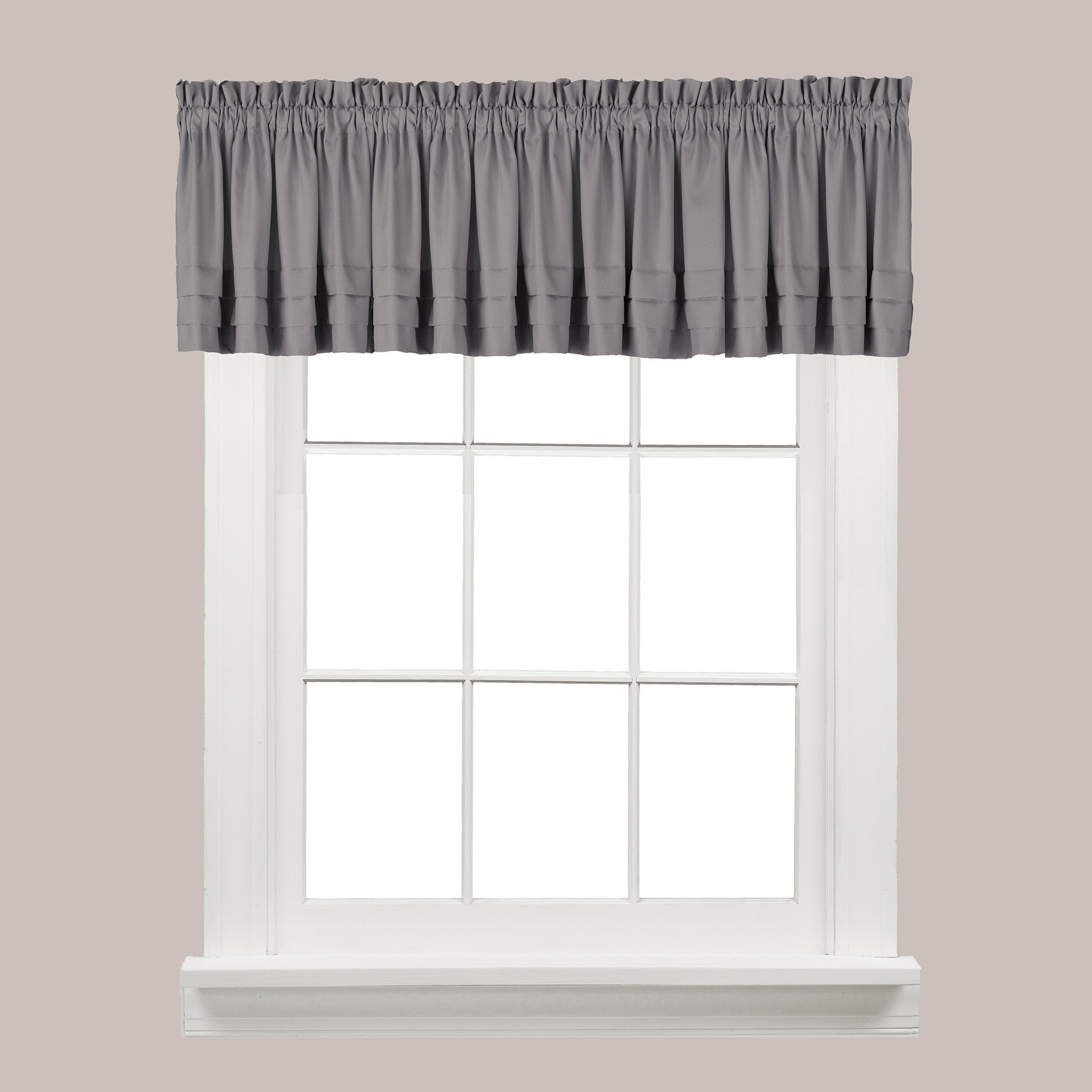 The Gray Barn Flinders Forge Valance In Dove Grey Intended For Flinders Forge 30 Inch Tiers In Dove Grey (View 3 of 20)