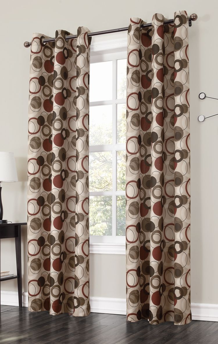 The Jupiter Grommet Curtains Has A Large Scaled Multi Color Inside Circle Curtain Valances (View 16 of 20)