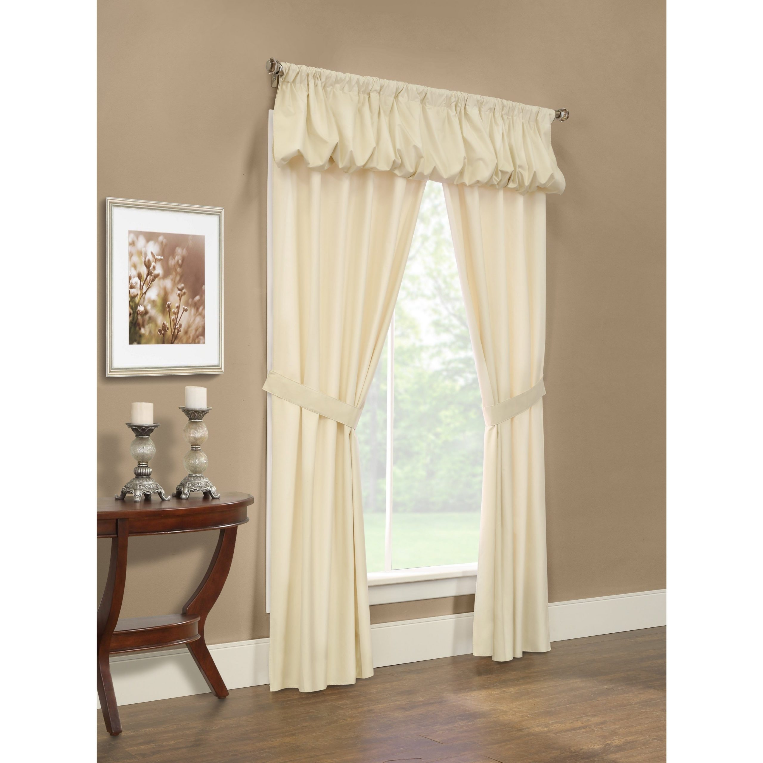 Thermalogic Prescott Insulated 5 Piece Curtain Panel Set Intended For Chocolate 5 Piece Curtain Tier And Swag Sets (View 16 of 20)