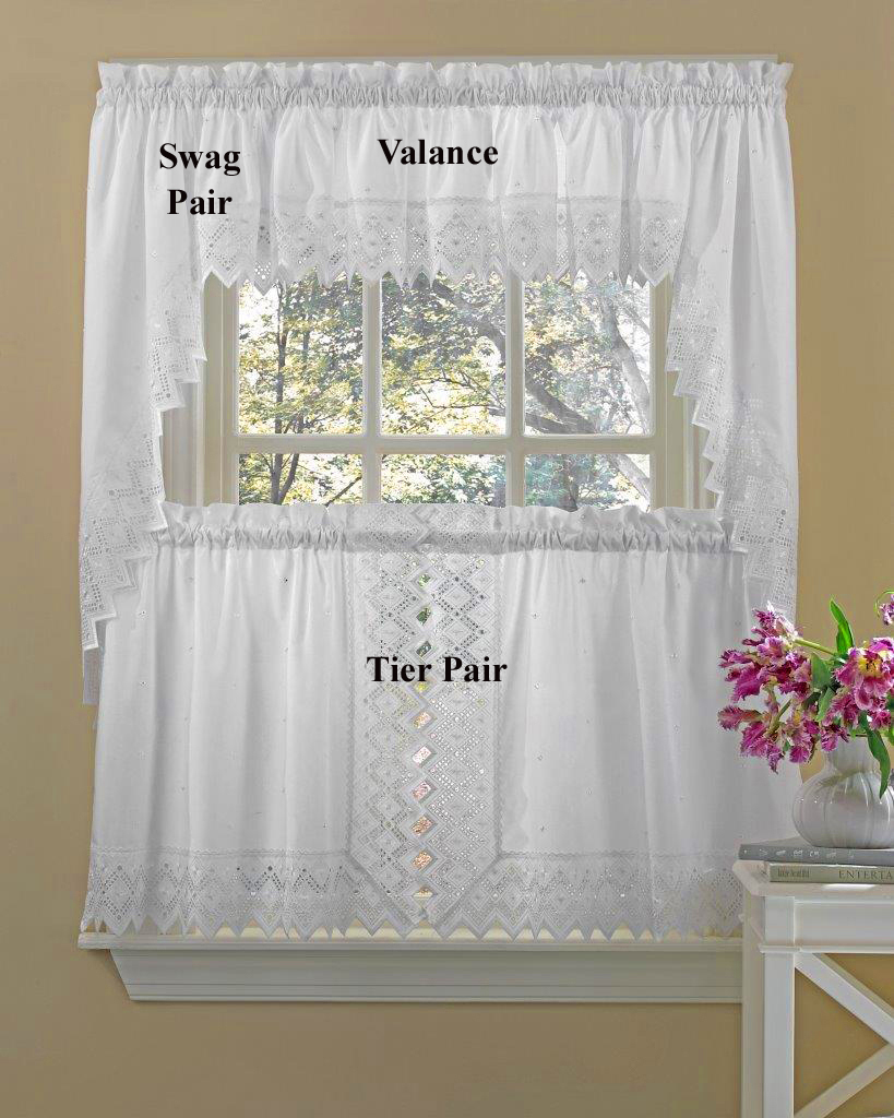 Tier Curtains – Nouveau In Embroidered Rod Pocket Kitchen Tiers (View 7 of 20)