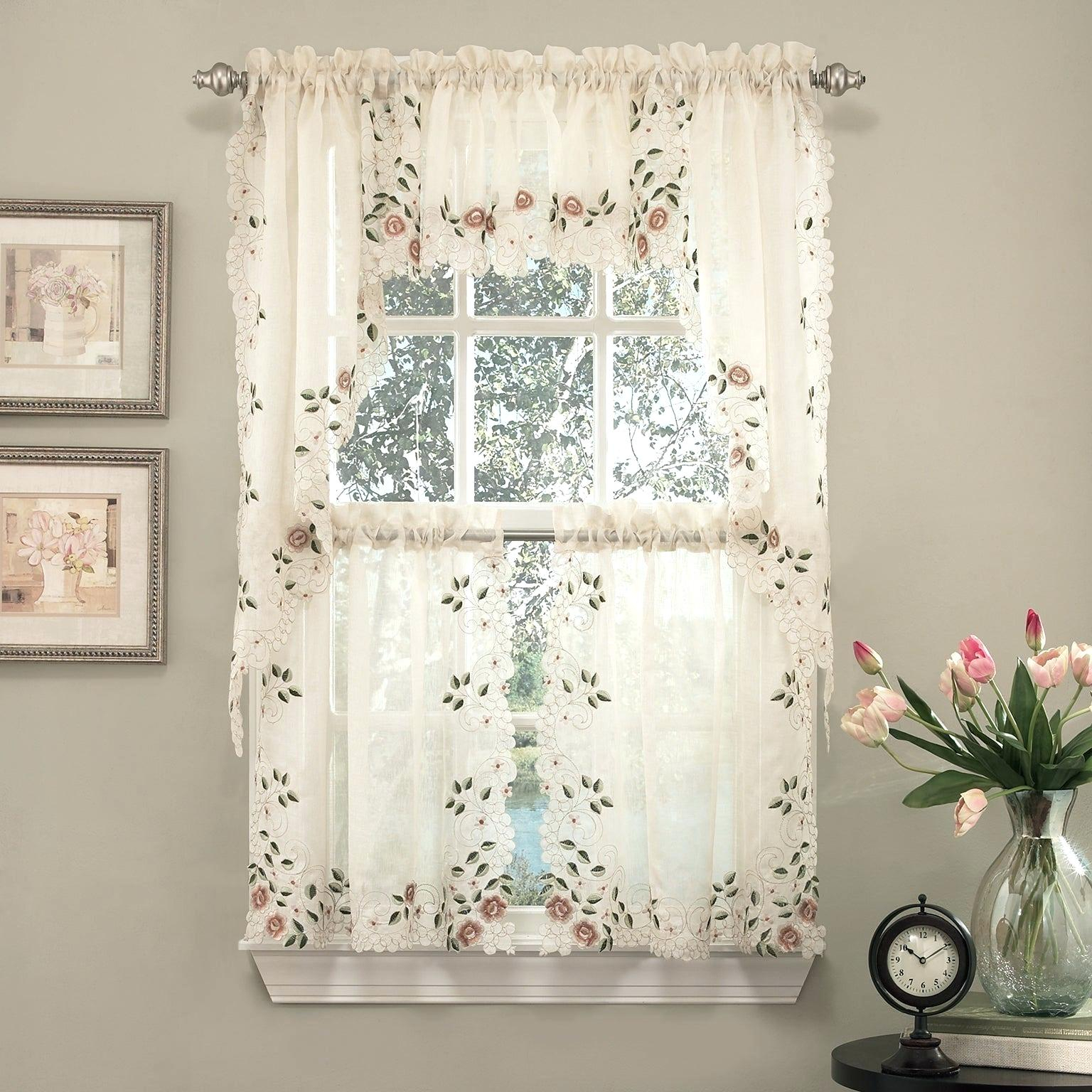 Tiered Valances – Woodspeak Inside Semi Sheer Rod Pocket Kitchen Curtain Valance And Tiers Sets (View 17 of 20)