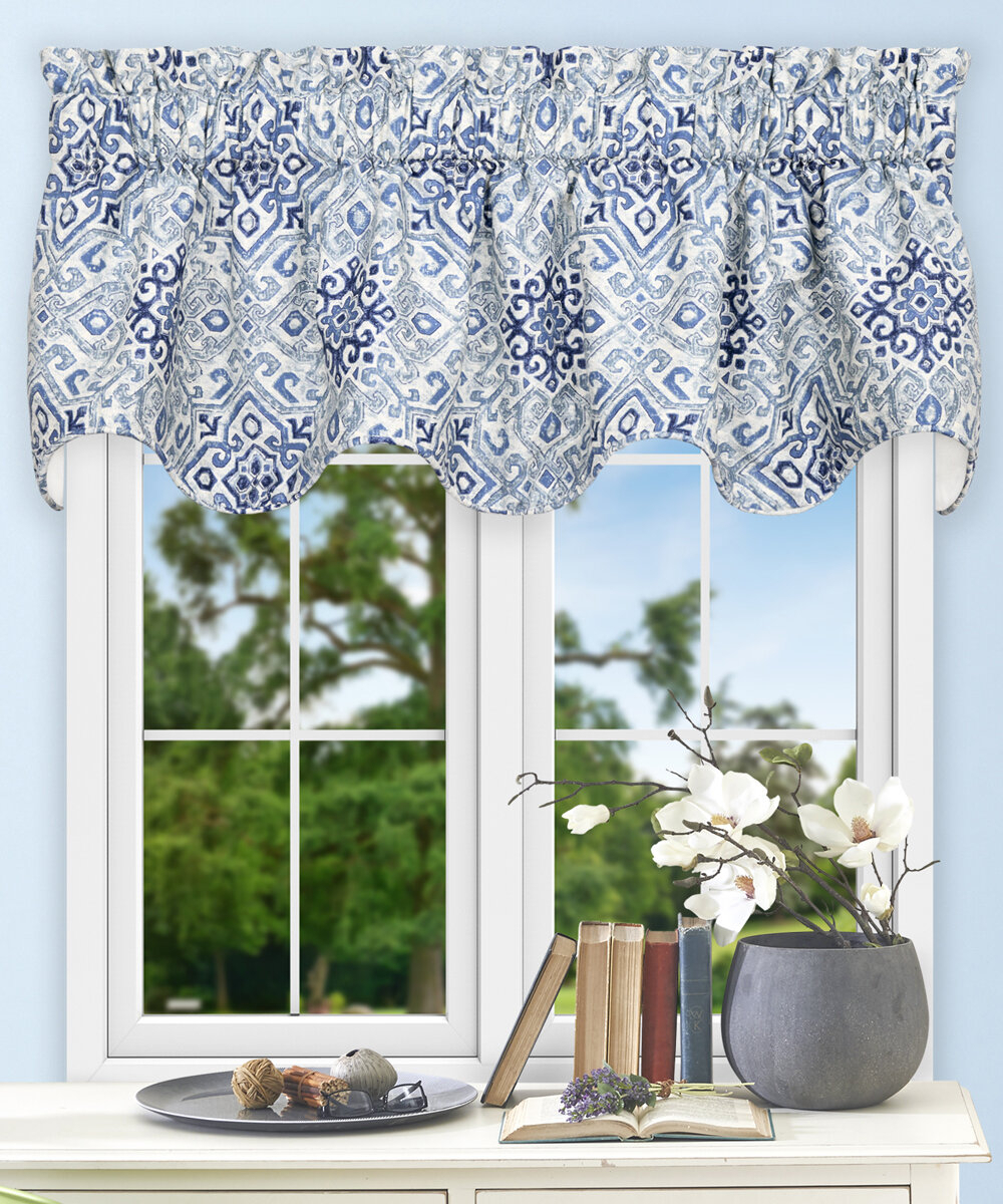 """Trudell Medallion 70"""" Curtain Valance Within Medallion Window Curtain Valances (View 14 of 20)"""