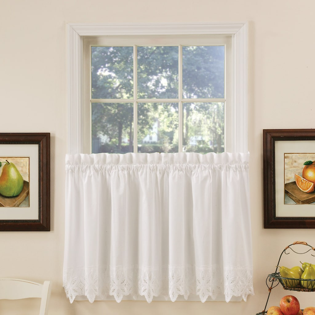 Vcny Jenna Kitchen Tier Window Curtain Set | Products Pertaining To Serene Rod Pocket Kitchen Tier Sets (View 20 of 20)
