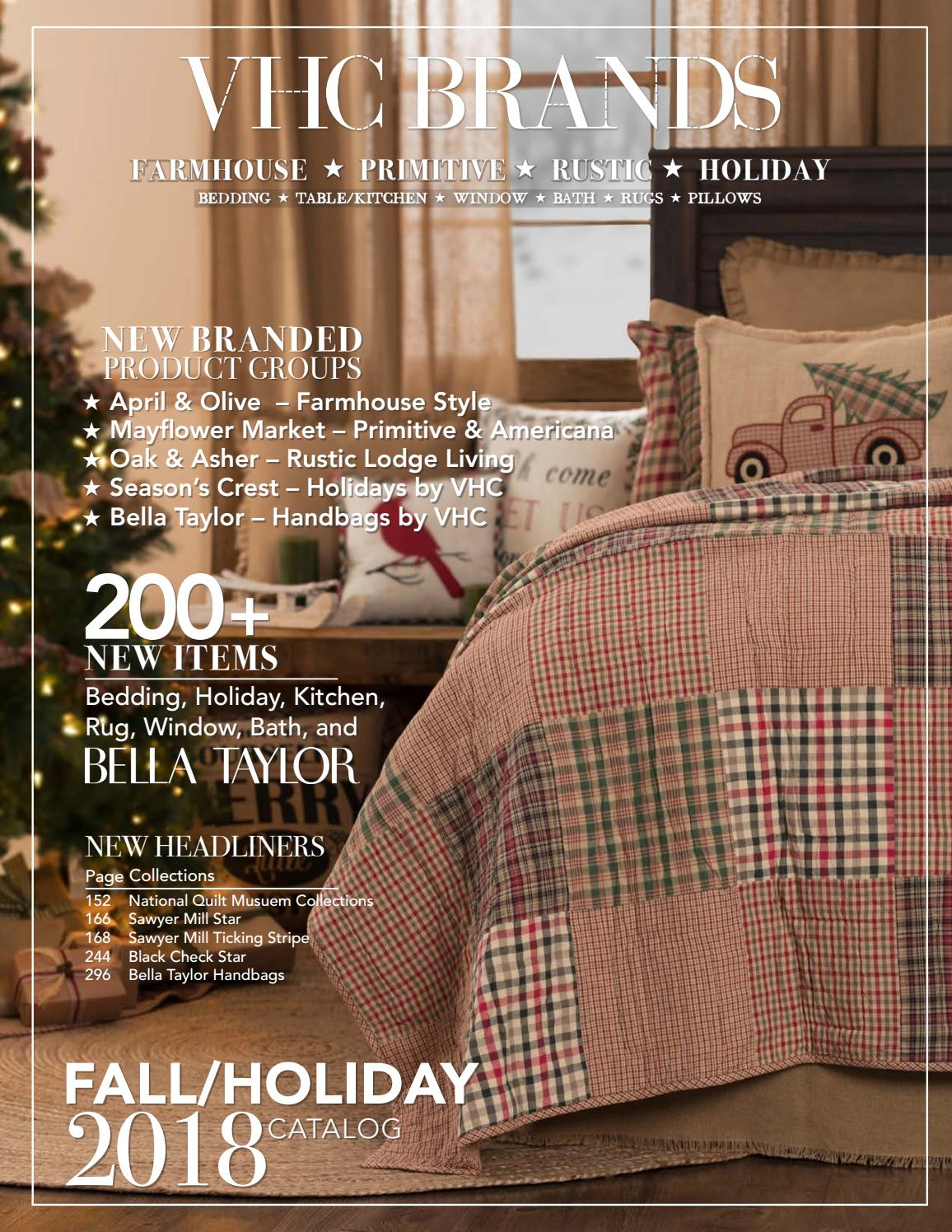 Vhc Brands Fall/holiday 2018 Catalogvhc Brands – Issuu Within Cumberland Tier Pair Rod Pocket Cotton Buffalo Check Kitchen Curtains (View 20 of 20)