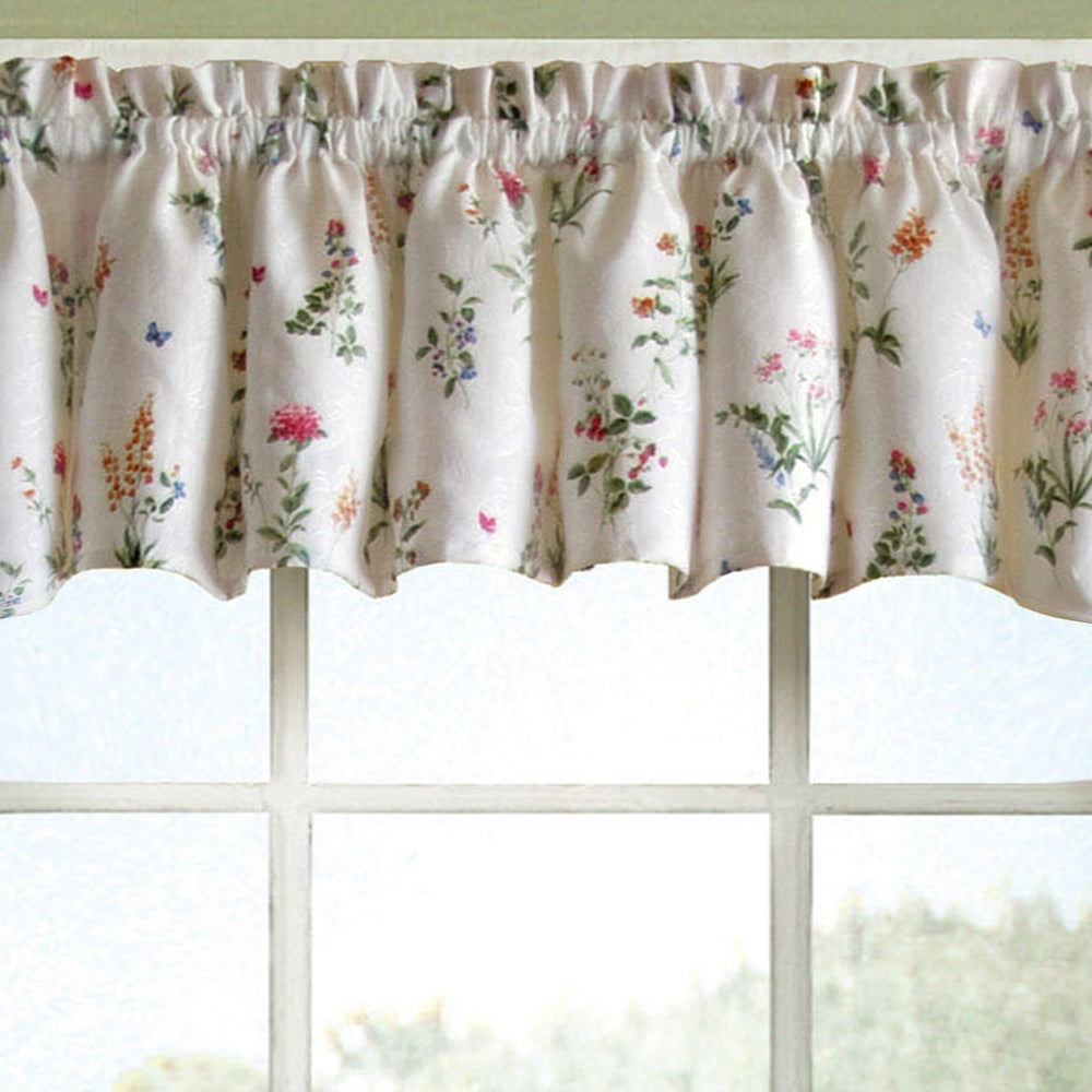 Vibrant Floral Garden Motif Jacquard Window Curtain Pieces With Regard To Tree Branch Valance And Tiers Sets (View 10 of 20)
