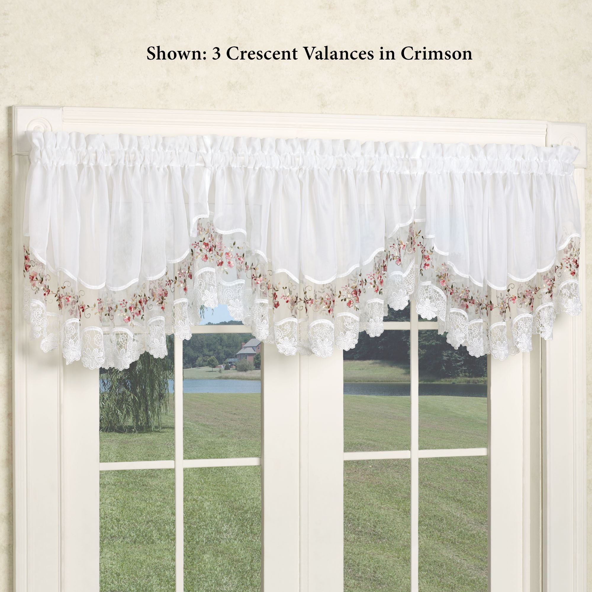 Vintage Embroidered Macrame Semi Sheer Window Treatment Throughout Class Blue Cotton Blend Macrame Trimmed Decorative Window Curtains (View 18 of 20)