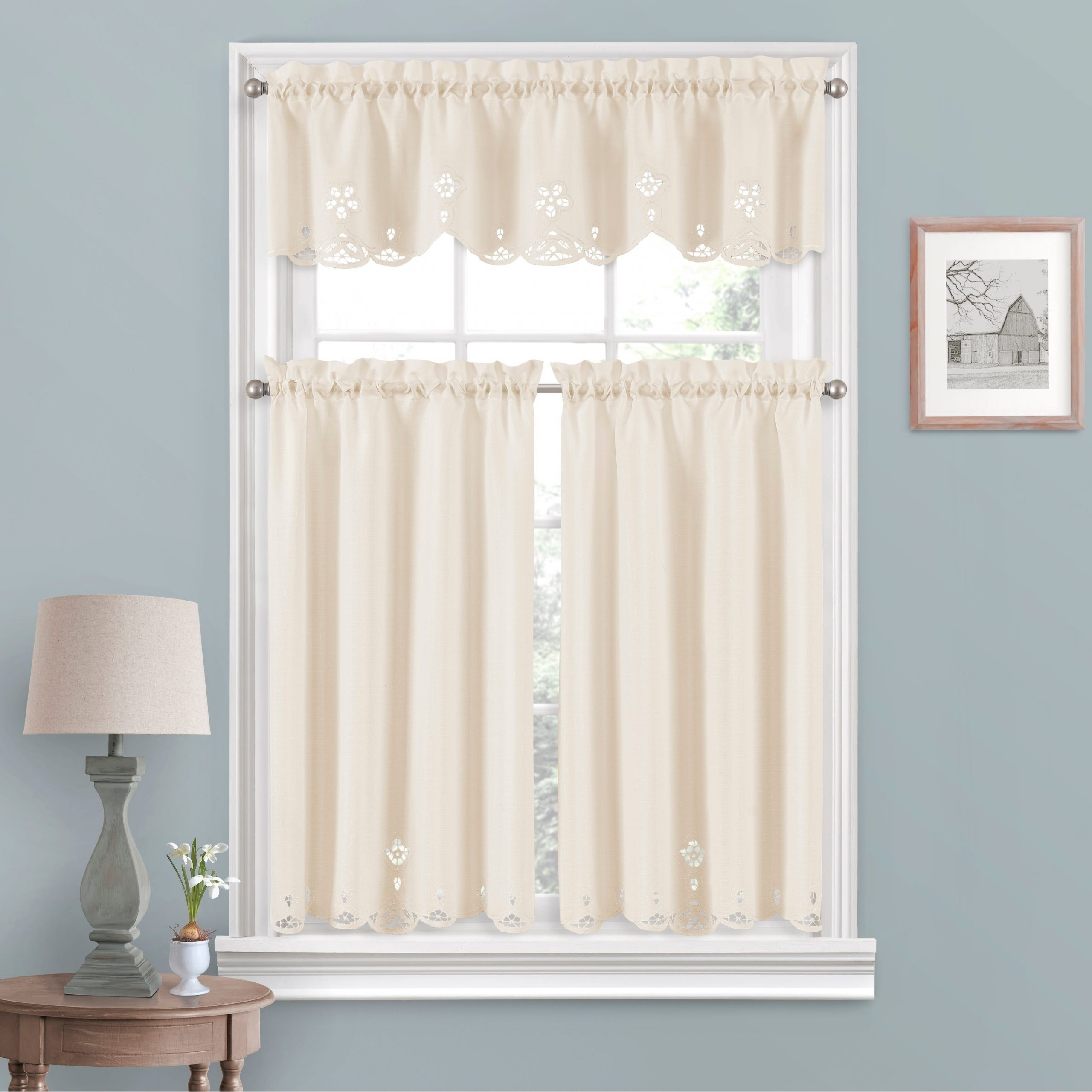 Vue Window Solutions Elaine Tier Pair In White Tone On Tone Raised Microcheck Semisheer Window Curtain Pieces (View 6 of 20)