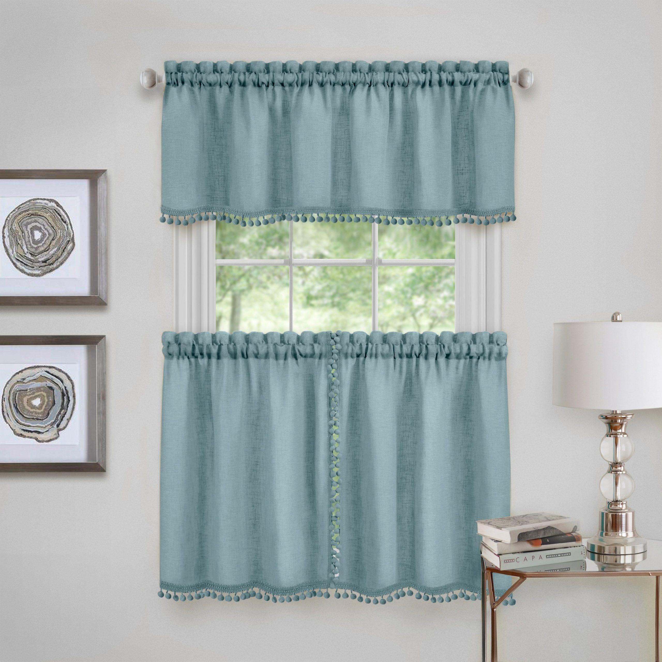 Wallace Window Kitchen Curtain Tier Pair And Valance Set With Regard To Dakota Window Curtain Tier Pair And Valance Sets (View 6 of 20)