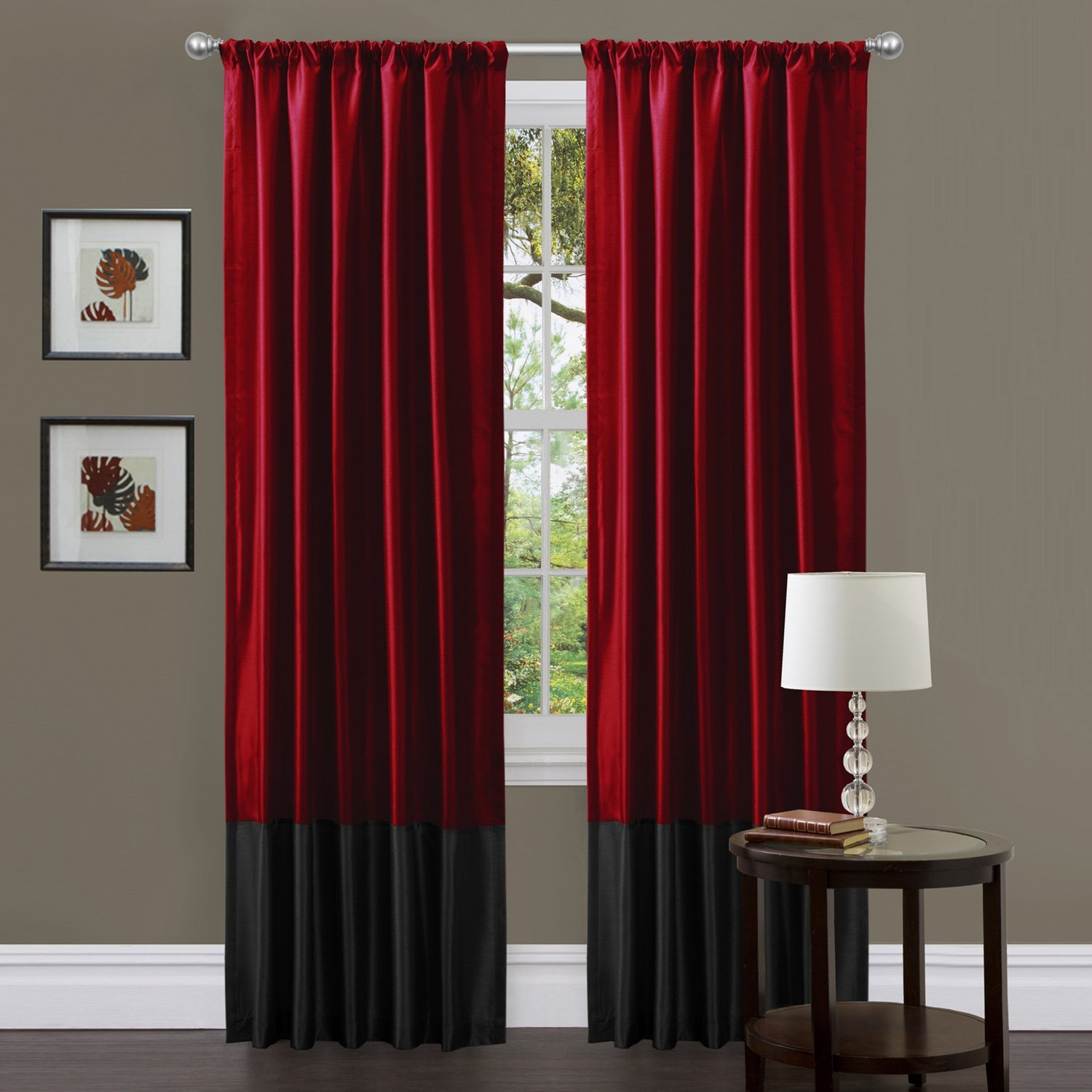 Warm Burgundy Curtains For Living Room — Office Pdx Kitchen Pertaining To Kitchen Burgundy/white Curtain Sets (View 10 of 20)