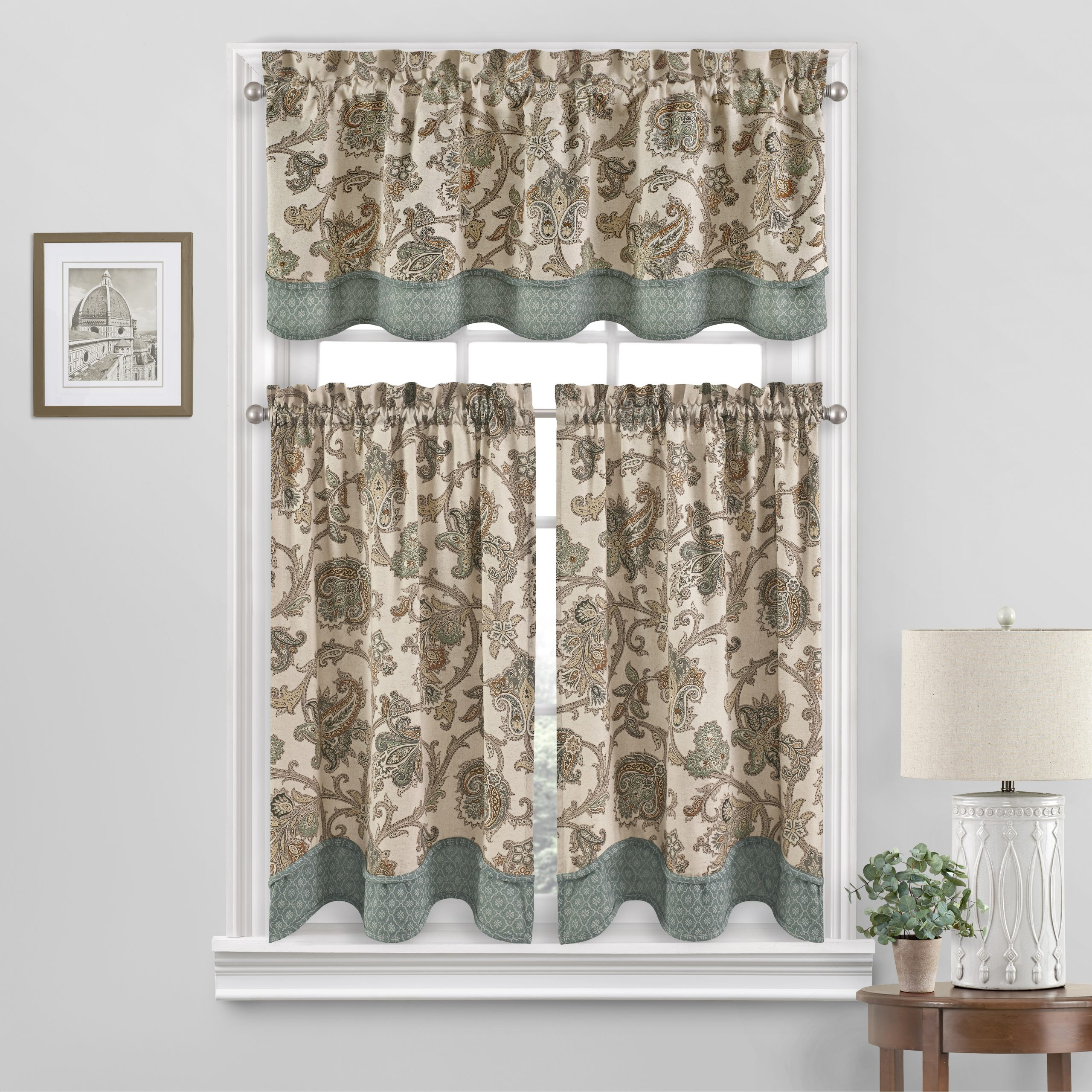 Waverly Arezzo Window Valance – Walmart Intended For Waverly Kensington Bloom Window Tier Pairs (View 14 of 20)