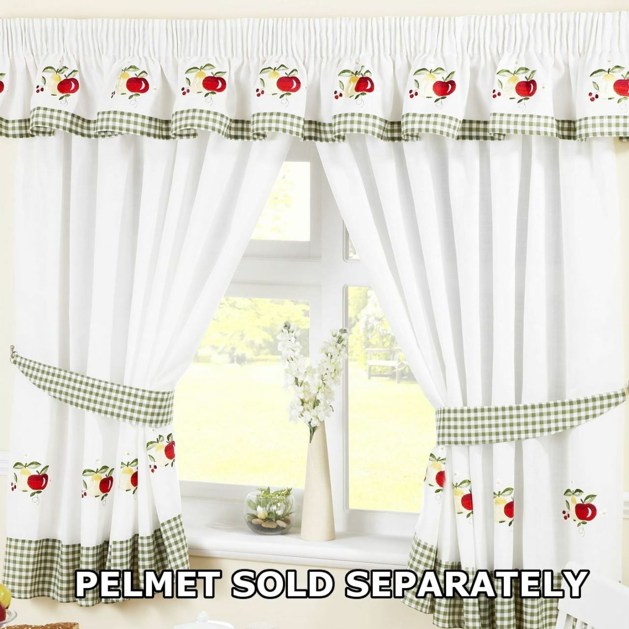 White Kitchen Curtains – V9oj Within Geometric Print Microfiber 3 Piece Kitchen Curtain Valance And Tiers Sets (View 12 of 20)