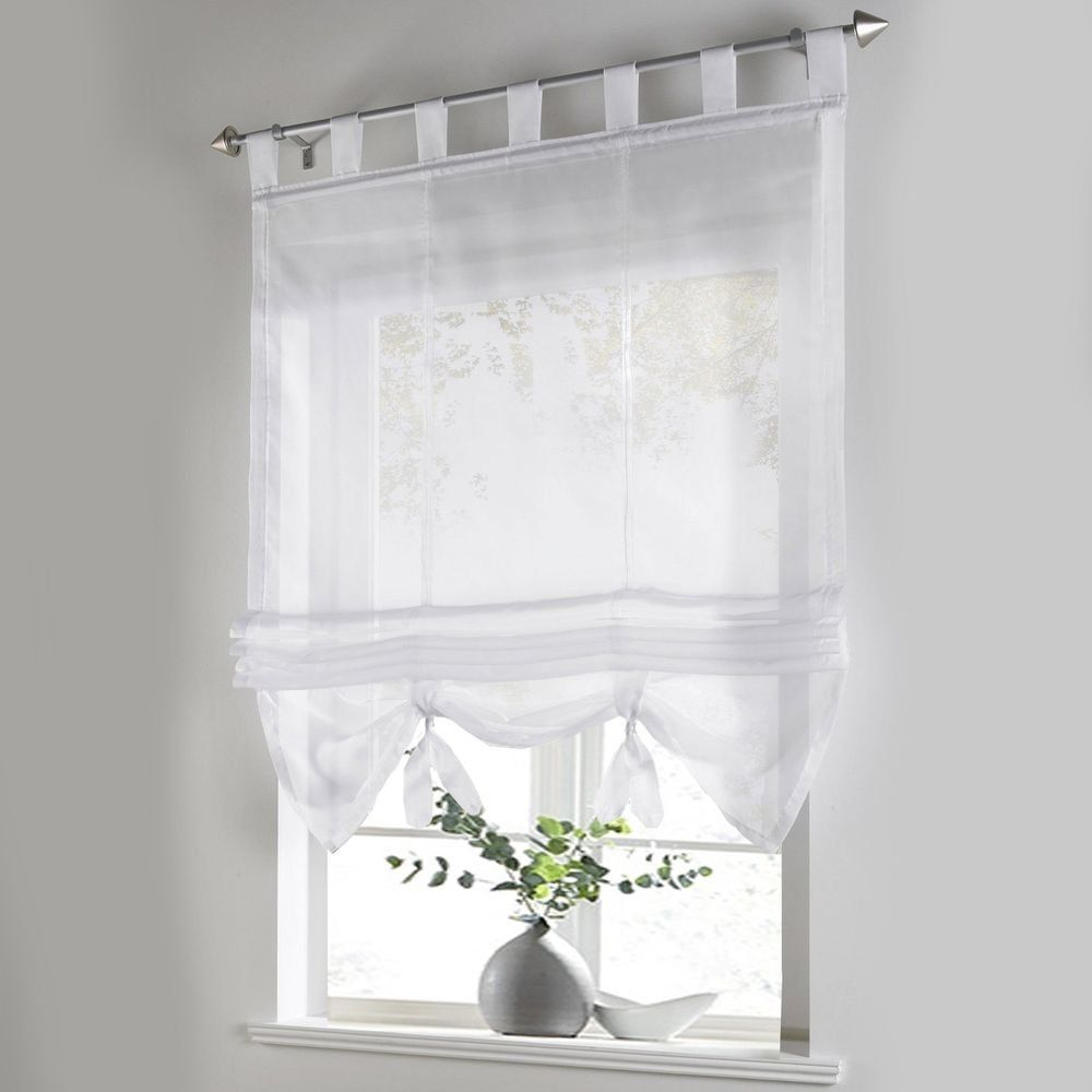 White Sheer Bathroom Curtains - Everyone Wants Seclusion within Maize Vertical Ruffled Waterfall Valance And Curtain Tiers (Image 20 of 20)