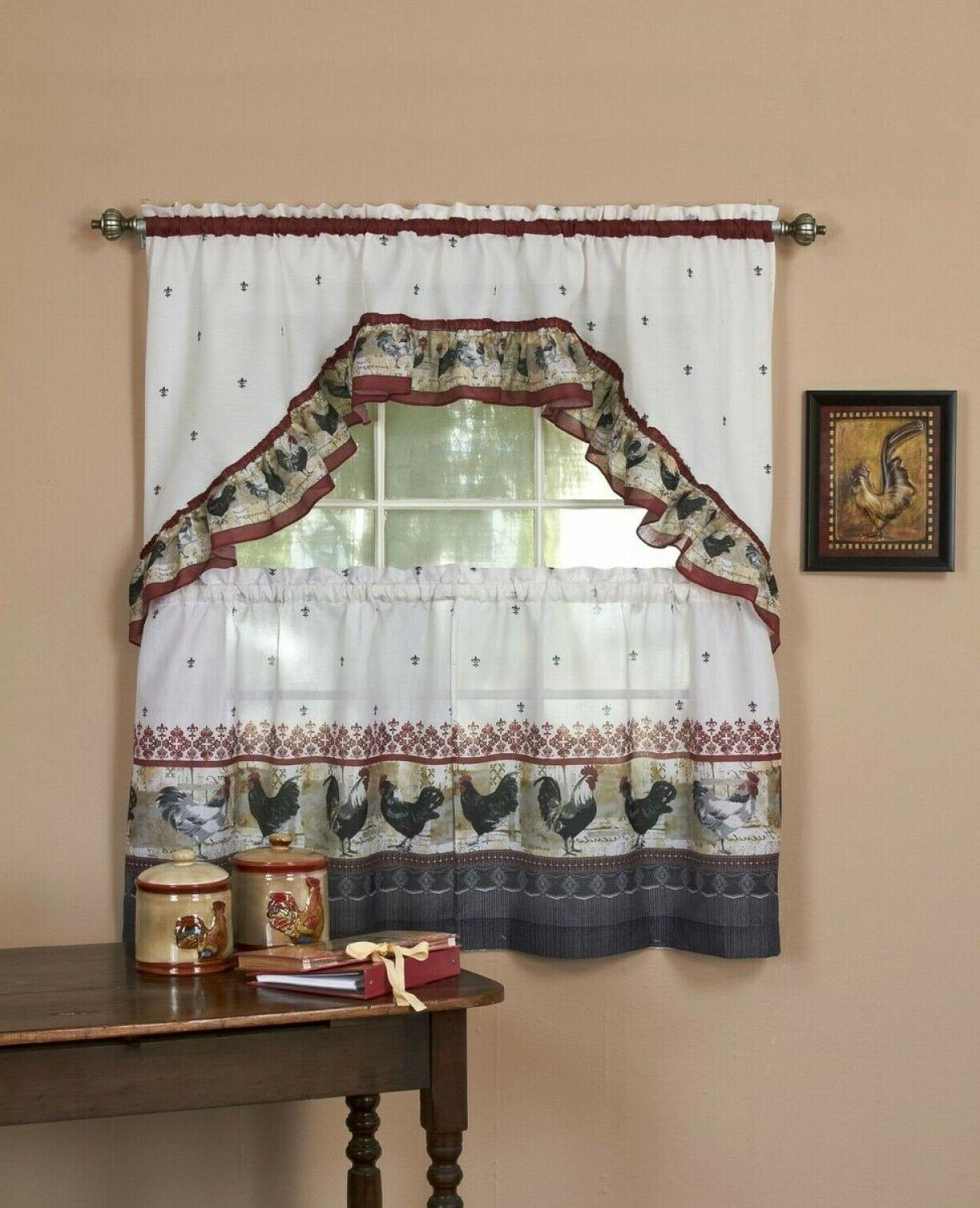 Window Curtain Tier Swag With Valance Co Intended For Luxury Collection Kitchen Tiers (View 14 of 20)