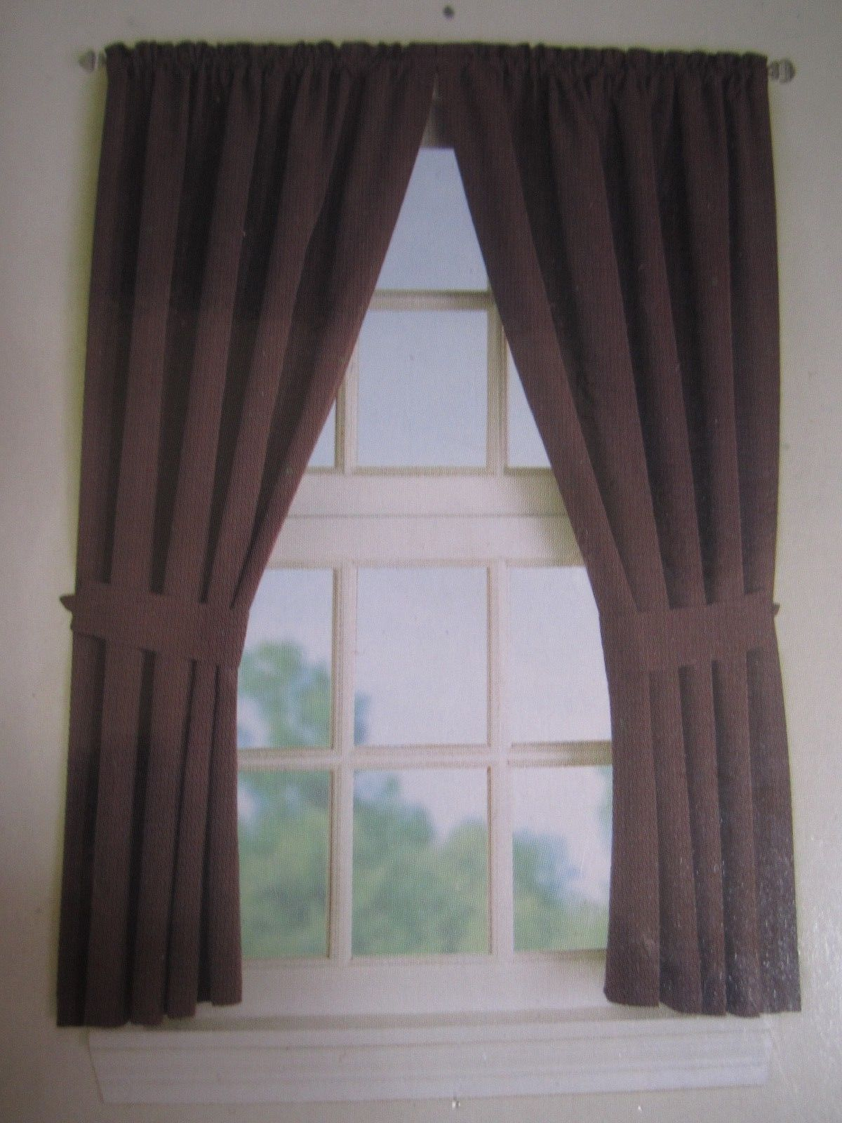 """Window Panel Mainstays Brown One Panel 40"""" X And 21 Similar Within Geometric Print Microfiber 3 Piece Kitchen Curtain Valance And Tiers Sets (View 15 of 20)"""