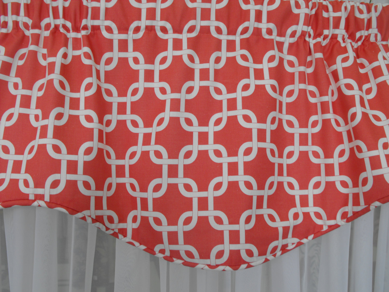 Window Treatment Valance – Window Curtain – Valance – Window Valances – Coral Valance – Shaped Valance – Scalloped Valance – Custom Made Regarding Circle Curtain Valances (View 19 of 20)