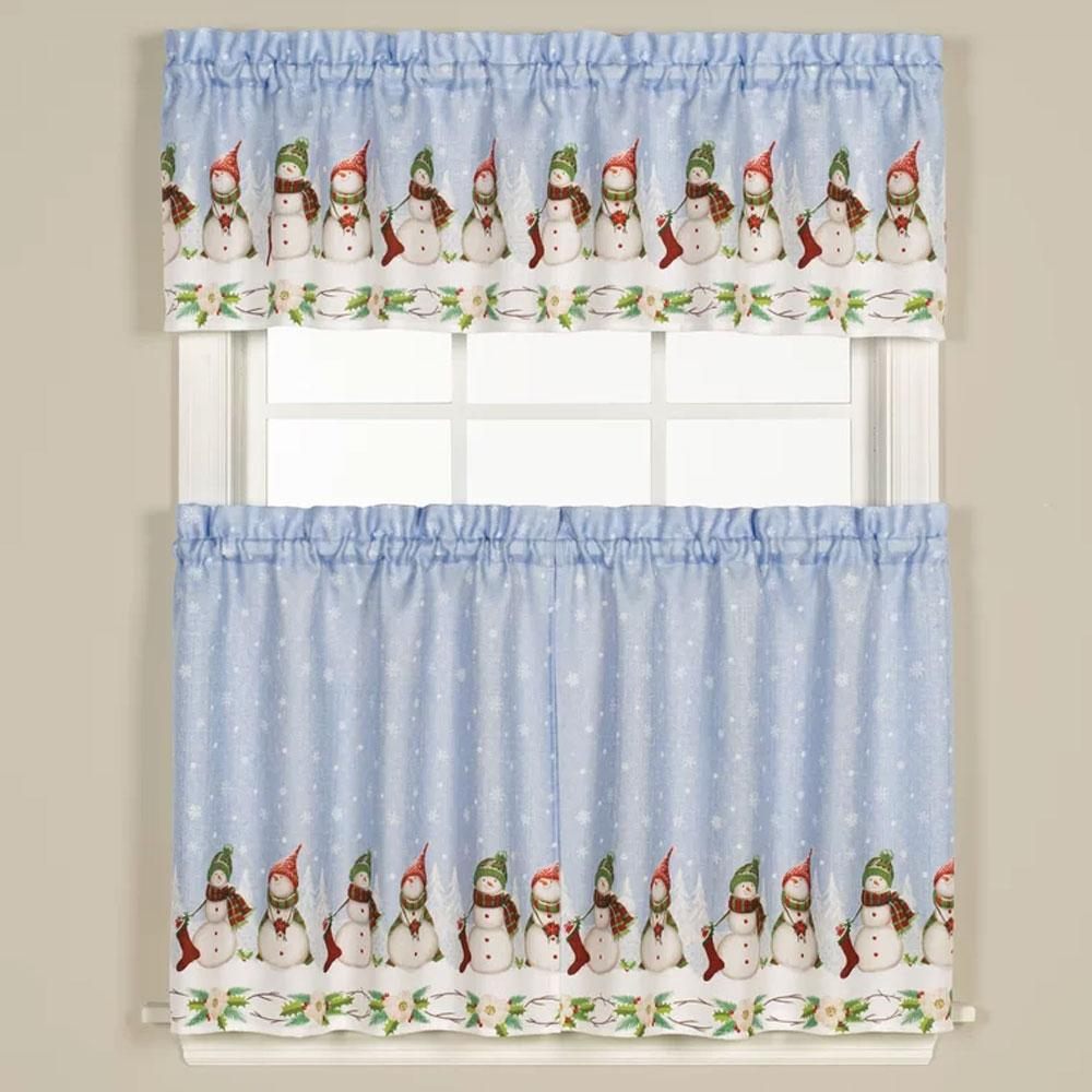 Winter Wonderland Tiers And Valance | Products | Valance In Traditional Two Piece Tailored Tier And Valance Window Curtains (View 14 of 20)