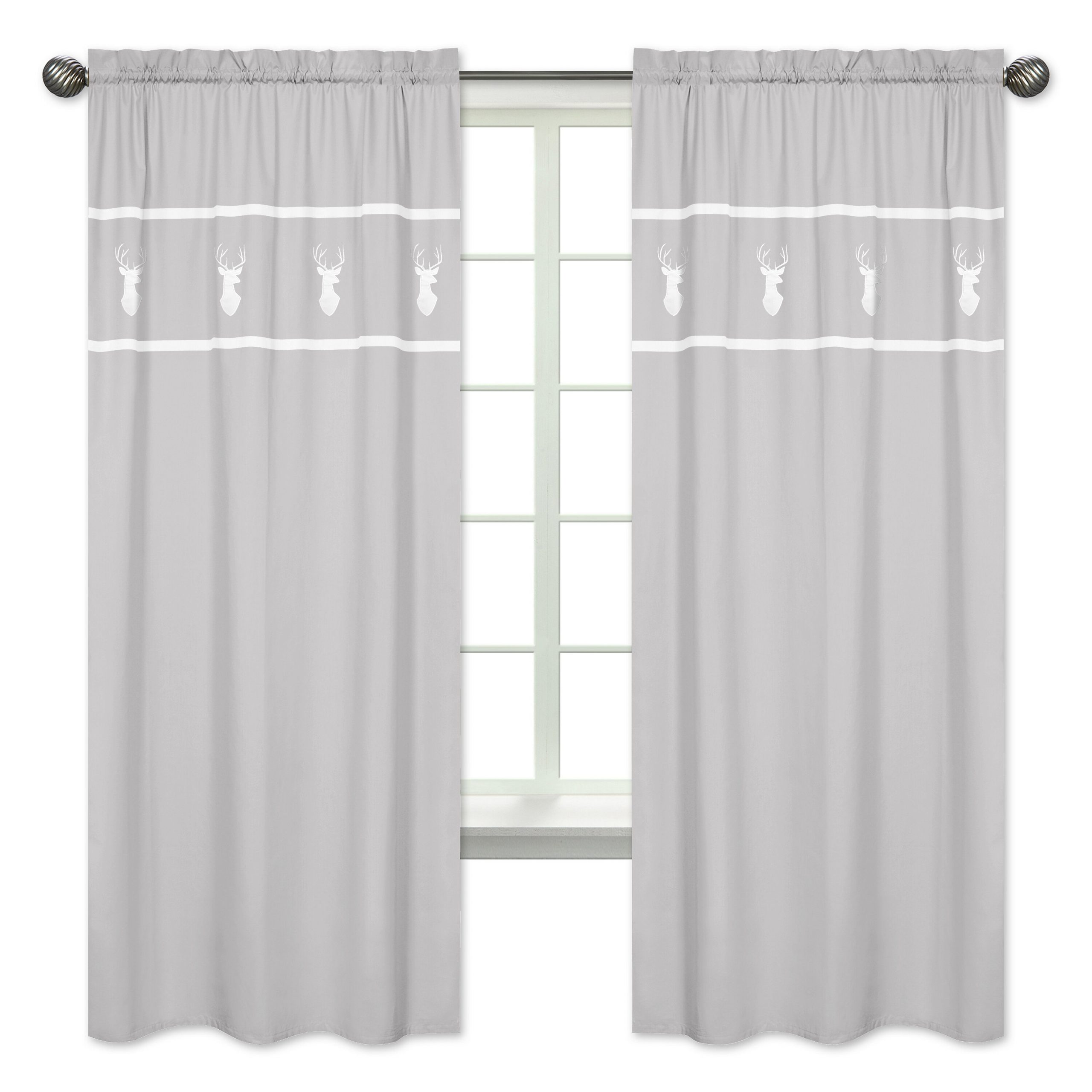 Woodsy Rod Pocket Panels Pair Curtains For Marine Life Motif Knitted Lace Window Curtain Pieces (View 13 of 20)