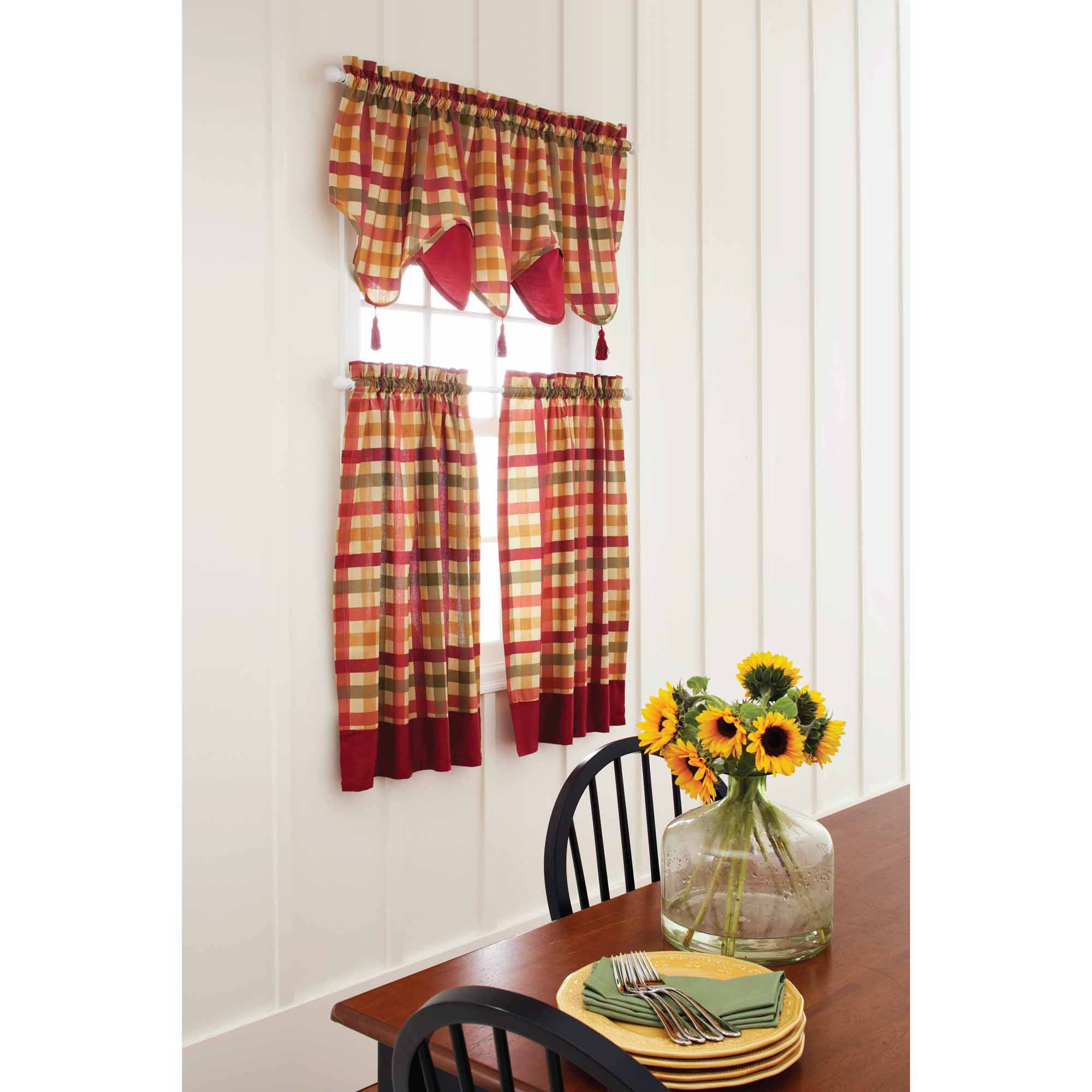 Yellow Kitchen Curtain Sets – Martinique Pertaining To Bermuda Ruffle Kitchen Curtain Tier Sets (View 15 of 20)