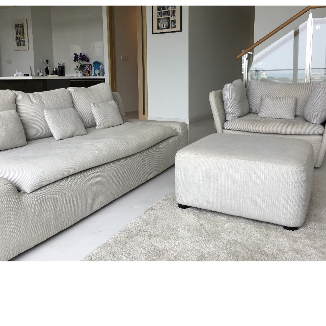 Habitat Kasha Sofa + Armchair + Footstool Regarding Kasha Armchairs (View 13 of 20)