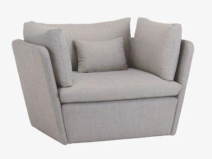 Kasha Greys Cotton Blend Fabric Armchair – Habitatuk   Canapé Within Kasha Armchairs (View 7 of 20)