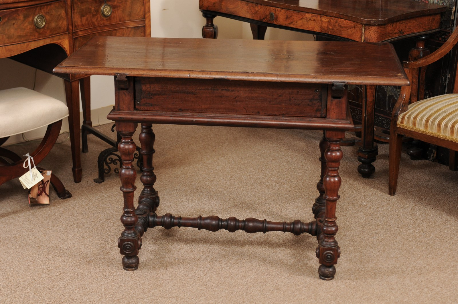 18th Century Italian Baroque Style Walnut Console With Inside Kaysville  (View 7 of 15)