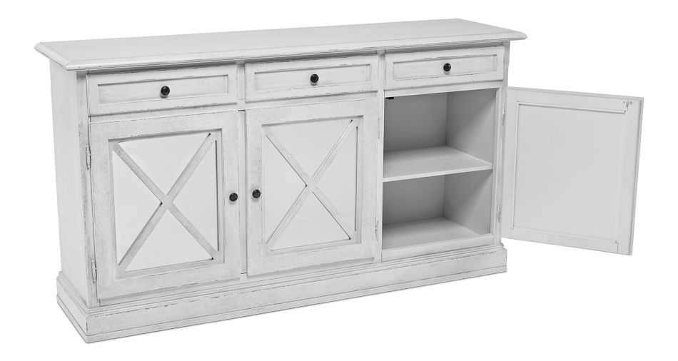 """3 Door, 3 Drawer Sideboard, Unfinished 1 