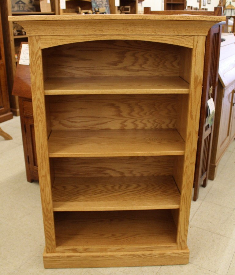 """4′ Deluxe Mission Bookcase [32 1/2″ Wide] 