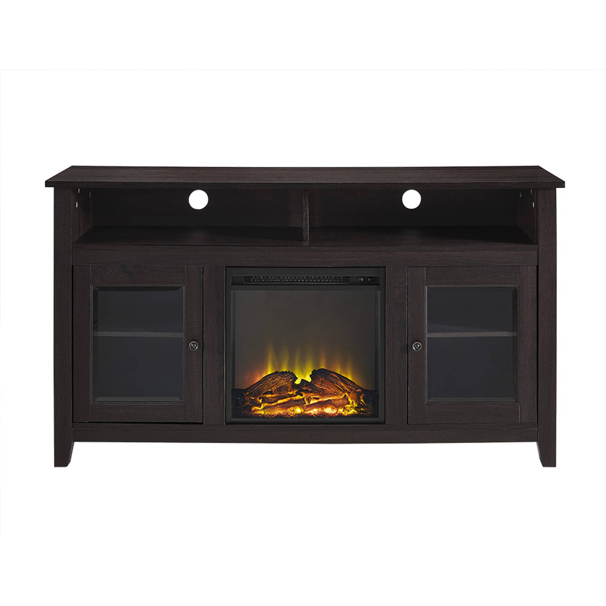 """58"""" Wood Highboy Fireplace Tv Stand For Tvs Up To 60 In Jace Tv Stands For Tvs Up To 58"""" (View 8 of 15)"""