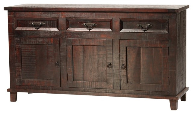 """Featured Photo of Hargrove 72"""" Wide 3 Drawer Mango Wood Sideboards"""
