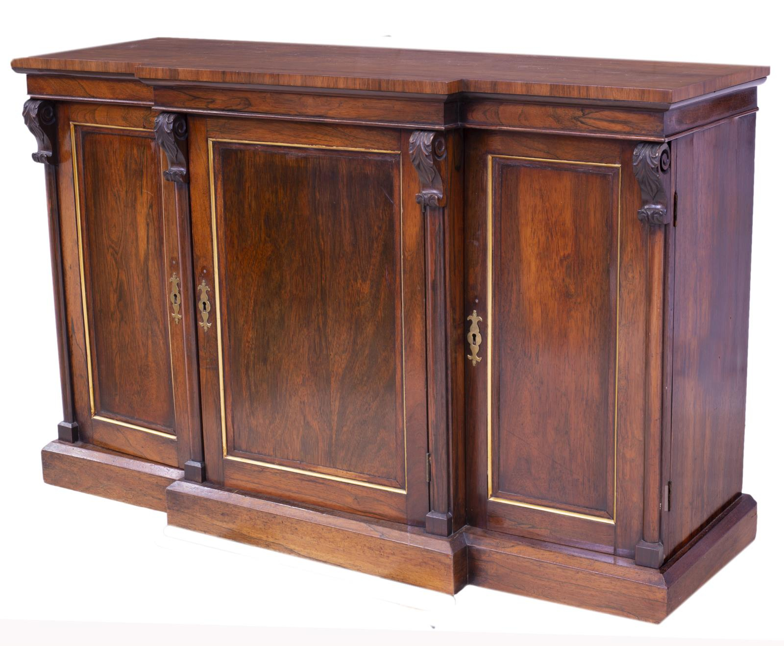 American Mahogany Breakfront Sideboard – High End Estates Intended For Keeney Sideboards (View 7 of 15)