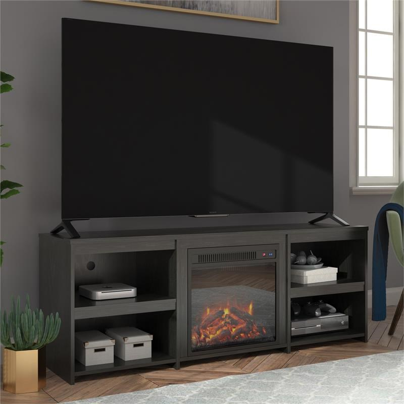"""Ameriwood Home Alan View Fireplace Tv Stand For Tvs Up To For Adalberto Tv Stands For Tvs Up To 65"""" (View 4 of 15)"""