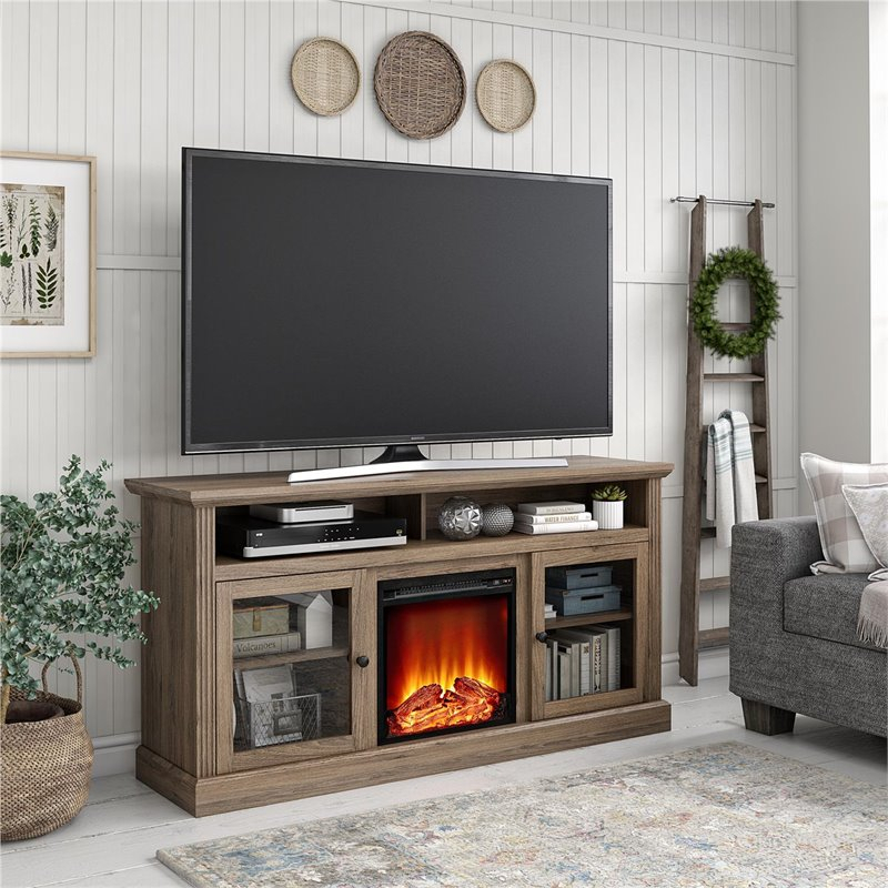 """Ameriwood Home Chicago Fireplace Tv Stand Up To 65"""" In With Adalberto Tv Stands For Tvs Up To 65"""" (View 3 of 15)"""