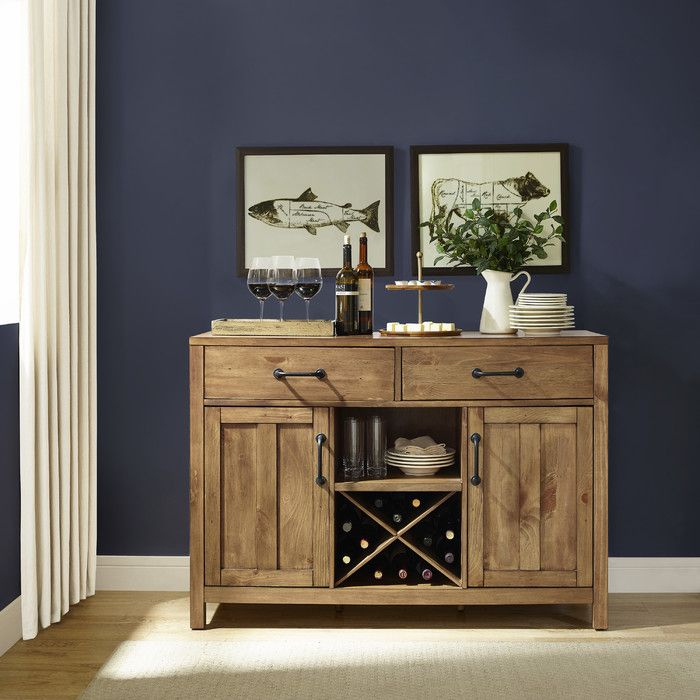 """Avenal 52"""" Wide 2 Drawer Sideboard In 2020 