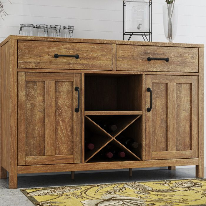 """Avenal 52"""" Wide 2 Drawer Sideboard   Sideboard, Furniture In Barkell 42"""" Wide 2 Drawer Acacia Wood Drawer Servers (View 3 of 15)"""